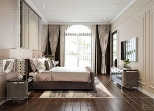thiết kế biệt thự 2 tầng tân cổ điển - phòng ngủ nhỏ 1