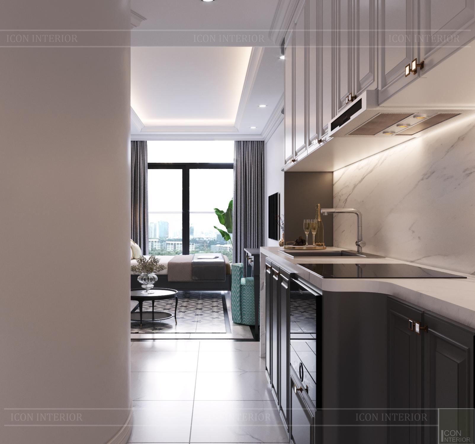Thiết kế căn hộ Studio Masteri Millenium