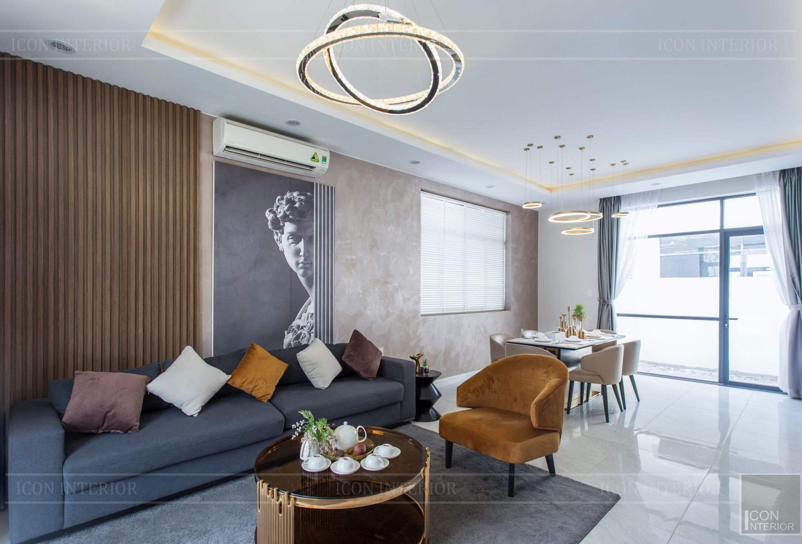 Thiết kế và thi công biệt thự Phúc An City - phòng khách 2