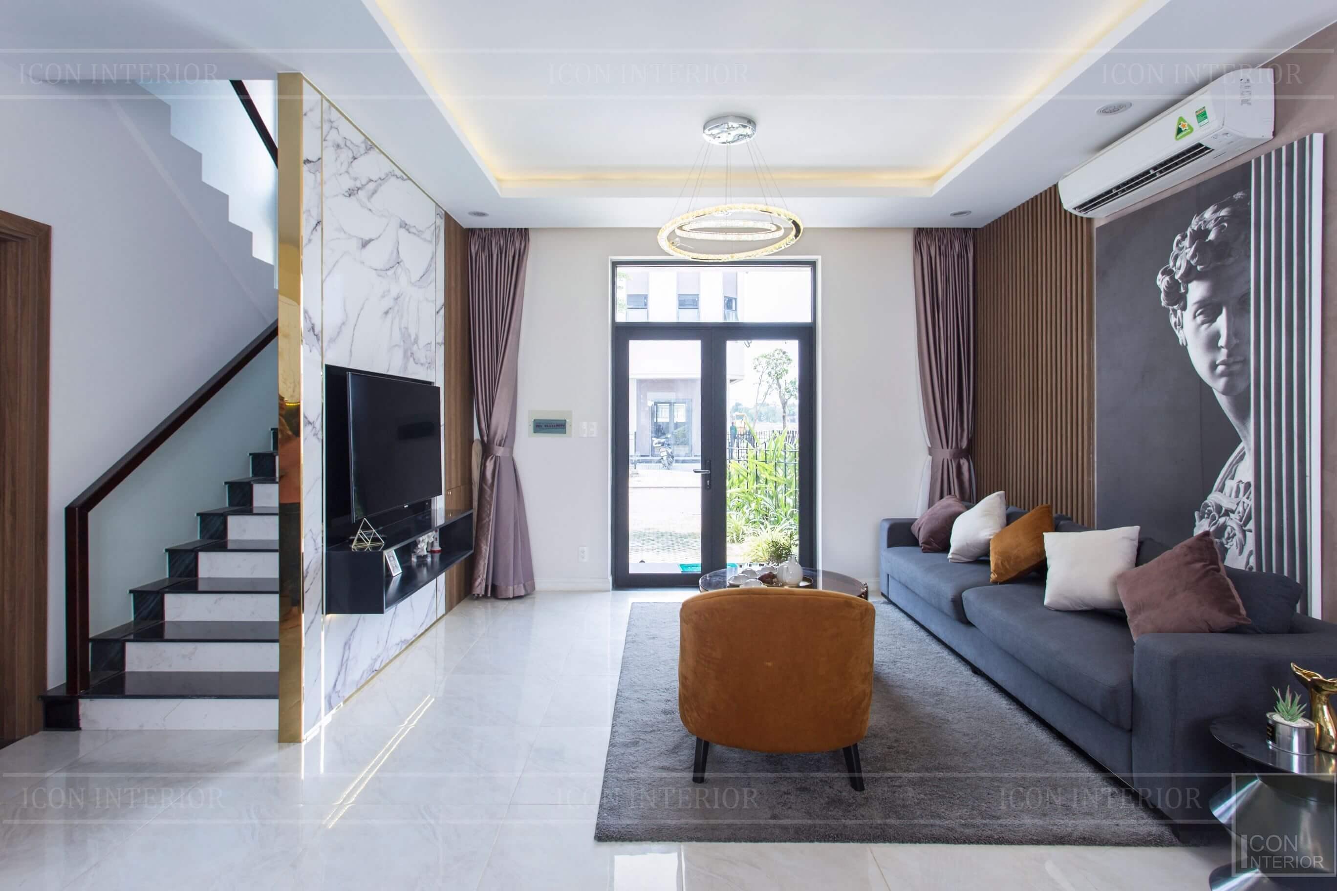 Thiết kế và thi công biệt thự Phúc An City - phòng khách 3