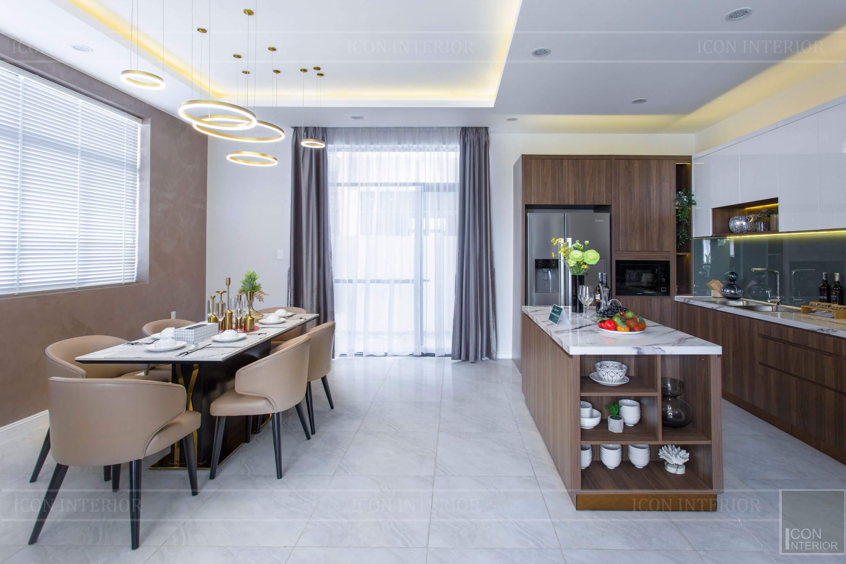 Thiết kế và thi công biệt thự Phúc An City - phòng khách 4