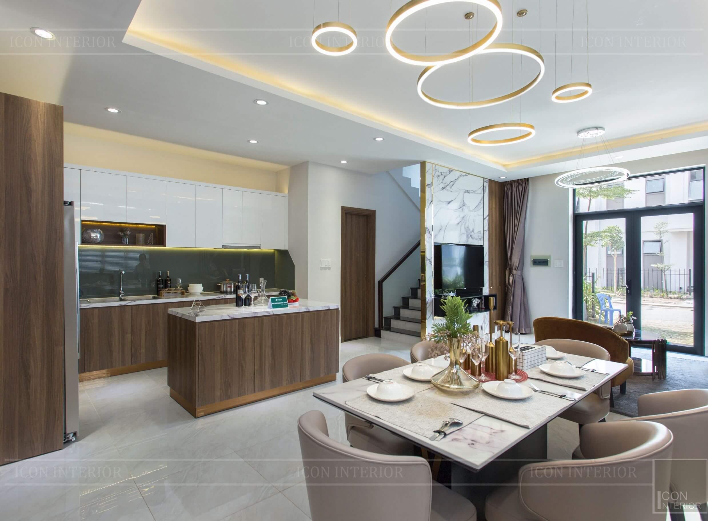 Thiết kế và thi công biệt thự Phúc An City - phòng khách 5