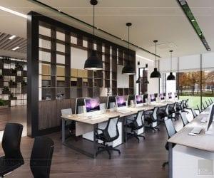 văn phòng làm việc đẹp hiện đại