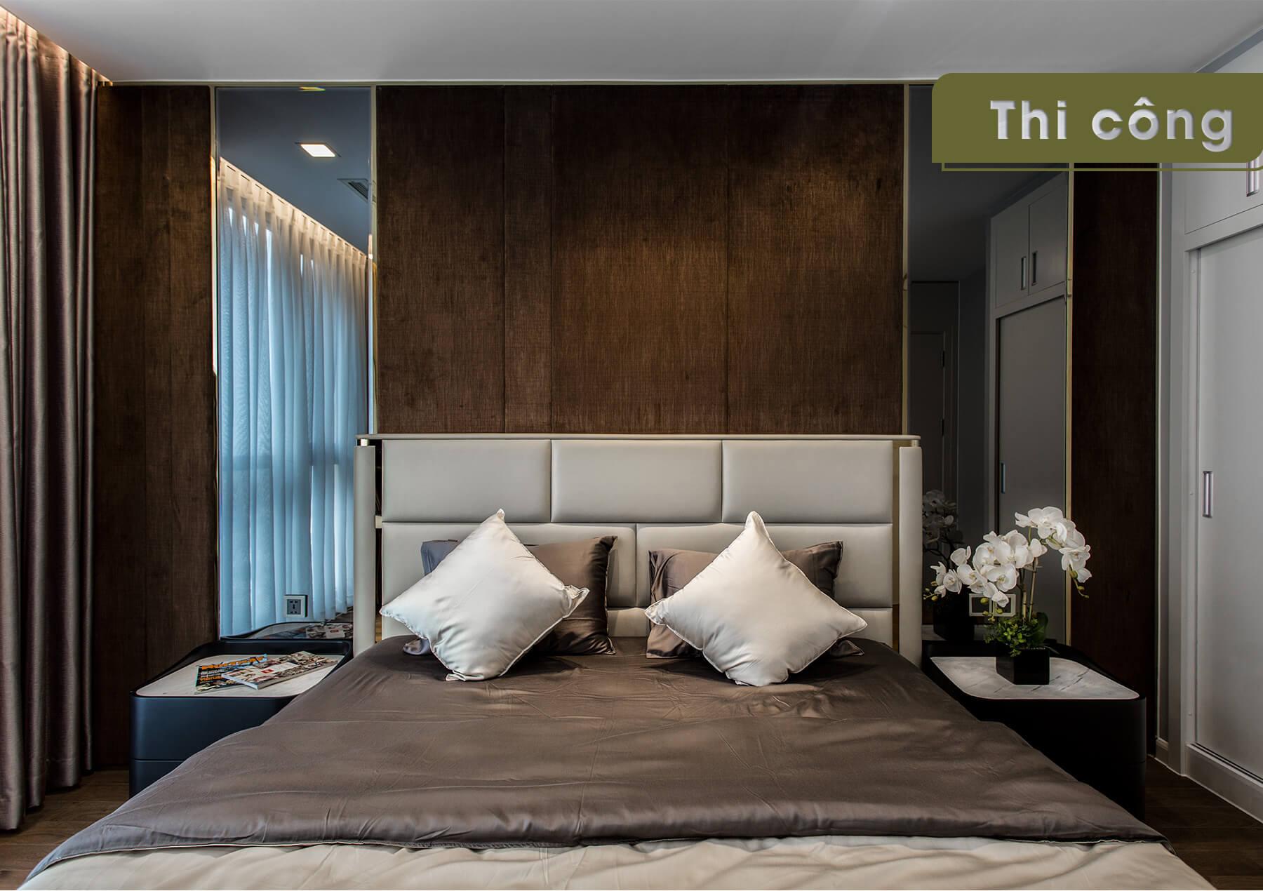 Thi công thực tế căn hộ Landmark 4 - phòng ngủ