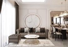 Thiết kế nội thất căn hộ Feliz En Vista - phòng khách 1