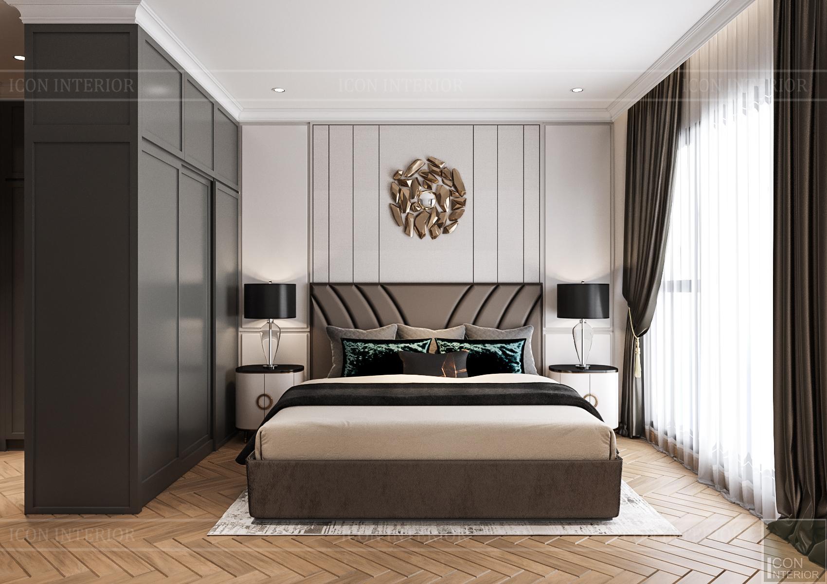 Thiết kế nội thất căn hộ Feliz En Vista - phòng ngủ master