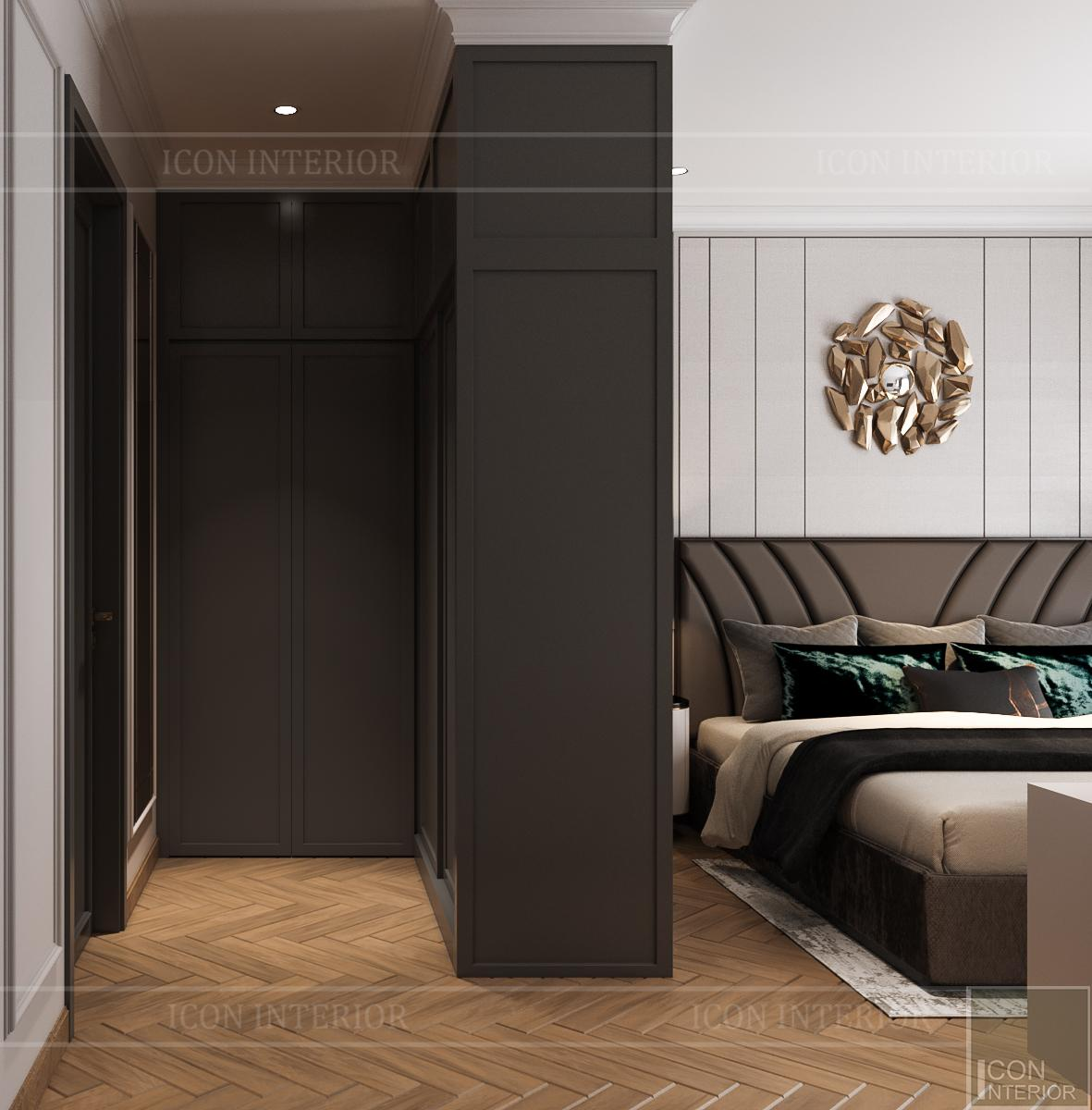 Thiết kế nội thất căn hộ Feliz En Vista - phòng ngủ master 2
