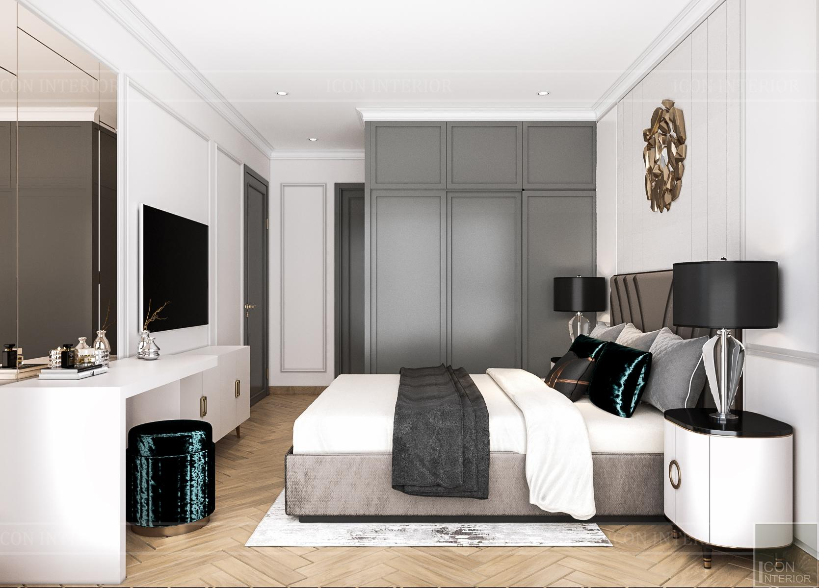 Thiết kế nội thất căn hộ Feliz En Vista - phòng ngủ master 3