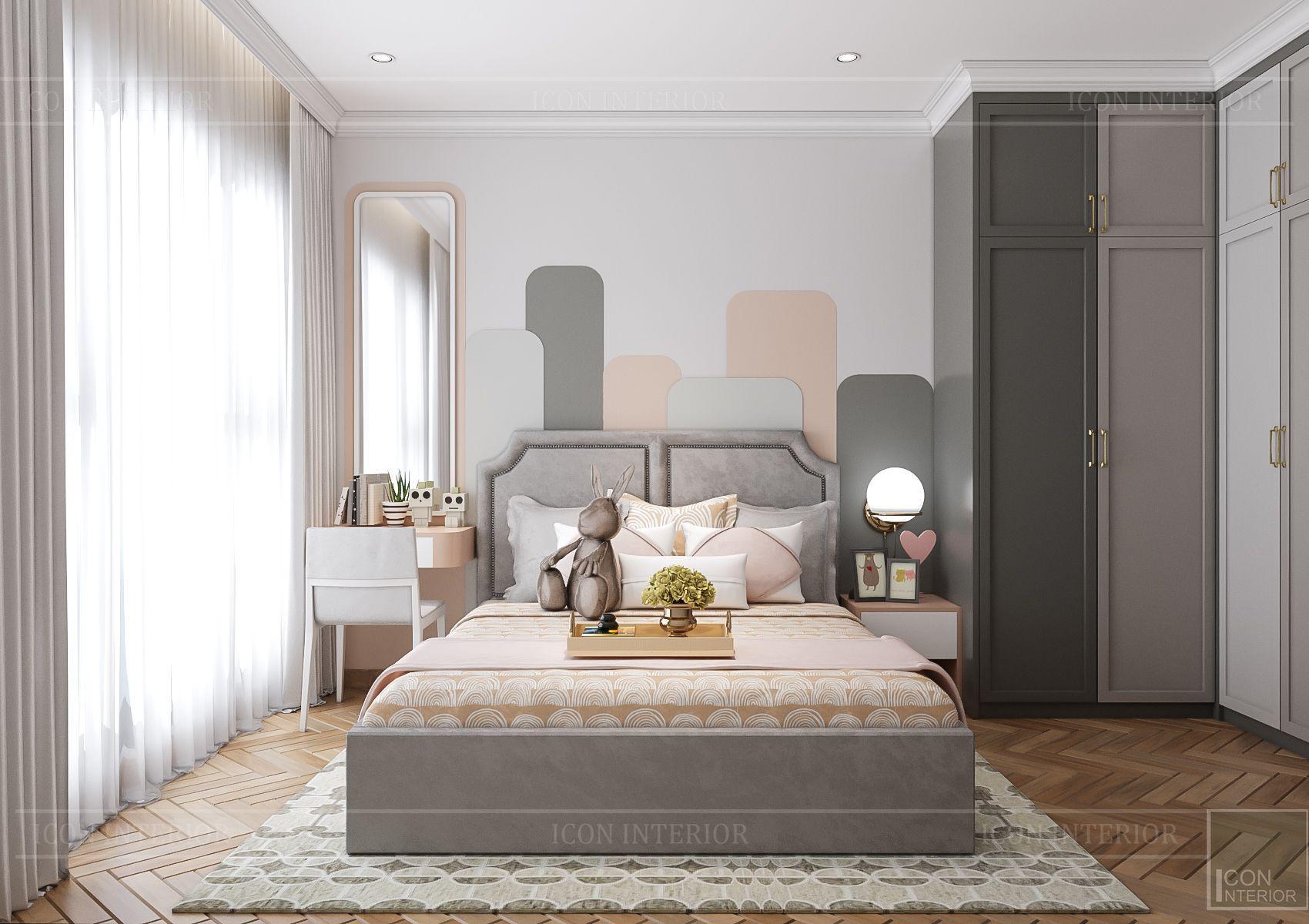 Thiết kế nội thất căn hộ Feliz En Vista - phòng ngủ trẻ em
