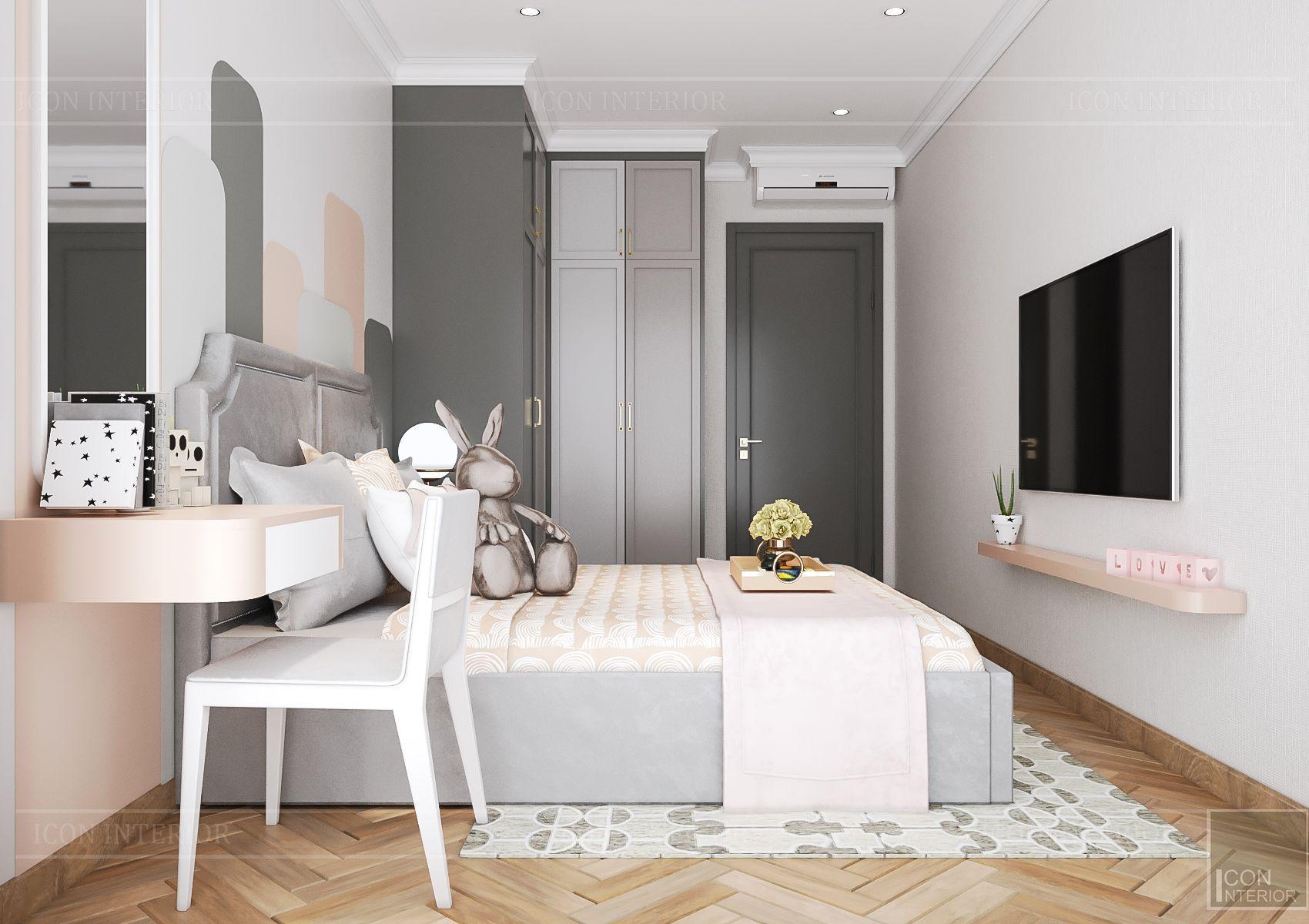 Thiết kế nội thất căn hộ Feliz En Vista - phòng ngủ trẻ em 1