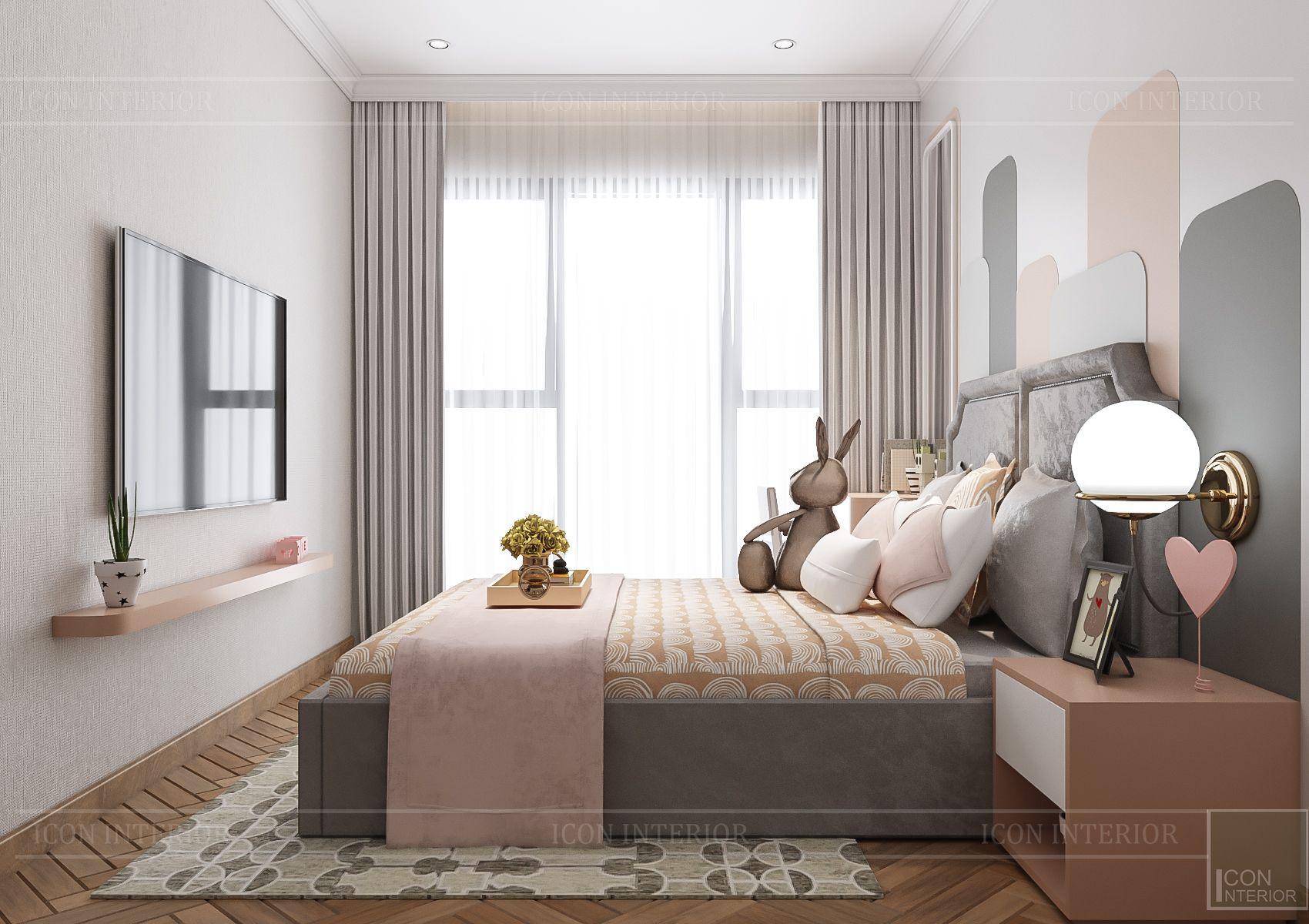 Thiết kế nội thất căn hộ Feliz En Vista - phòng ngủ trẻ em 3