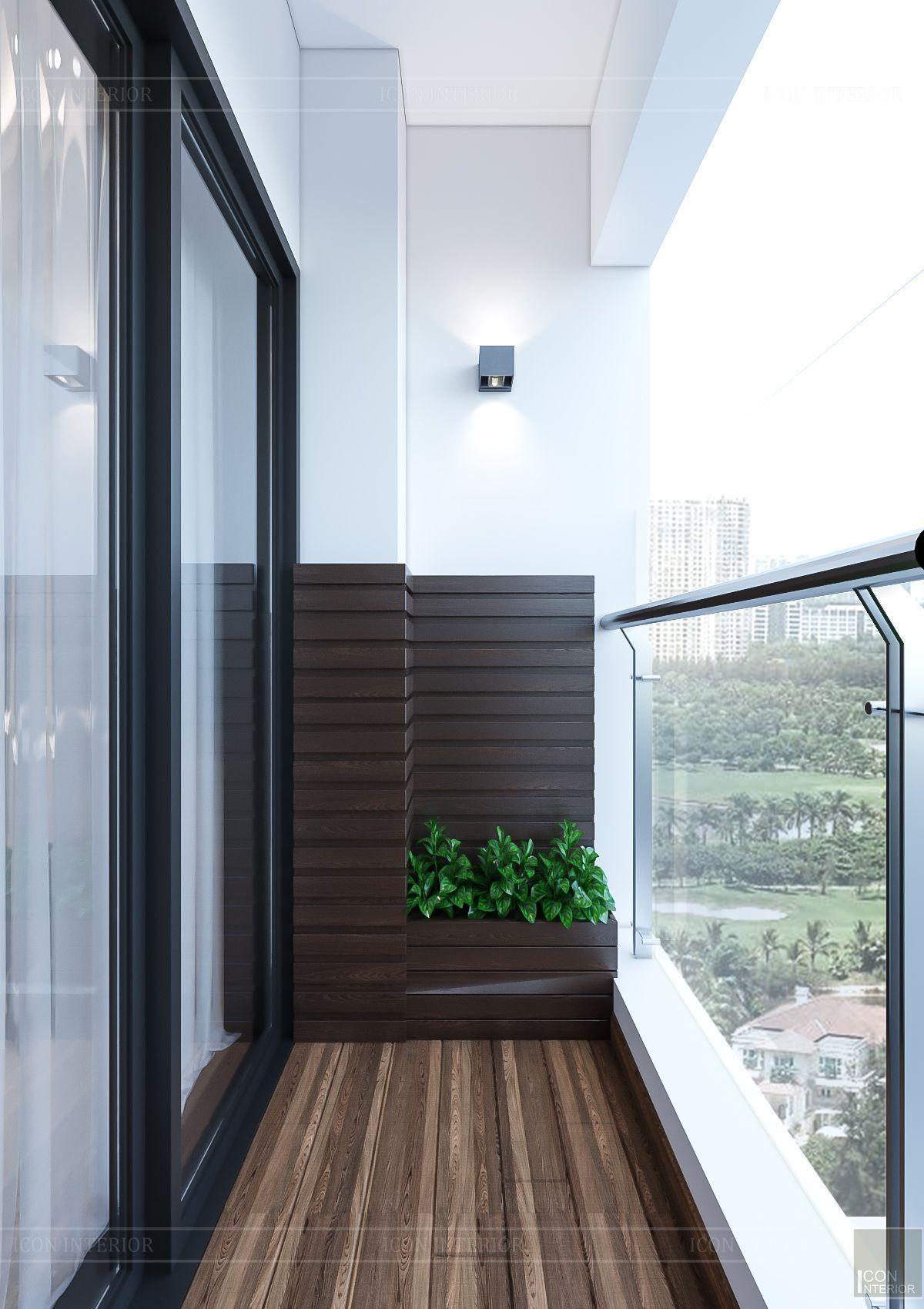 Thiết kế nội thất căn hộ Feliz En Vista - ban công 1