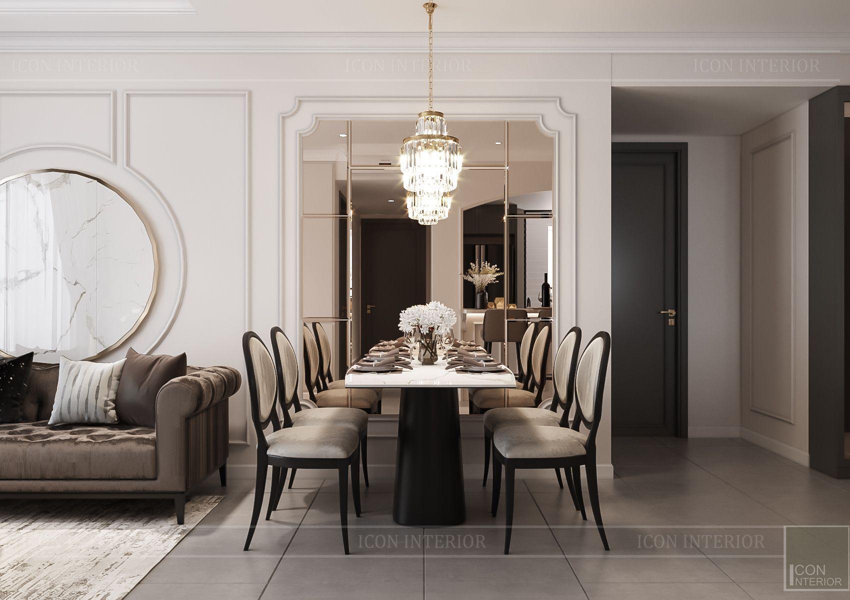 Thiết kế nội thất căn hộ Feliz En Vista - phòng khách 6