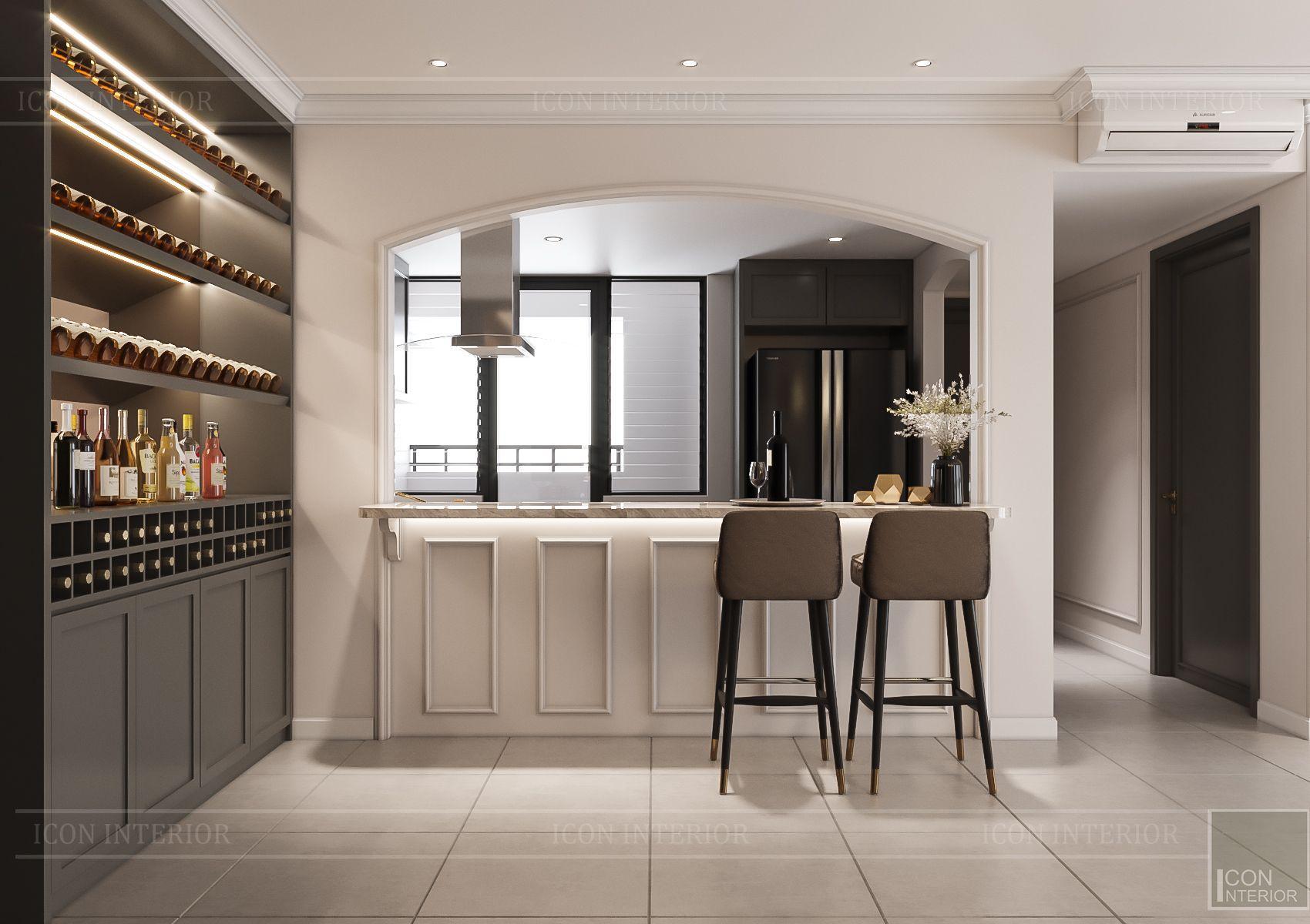 Thiết kế nội thất căn hộ Feliz En Vista - phòng bếp 2