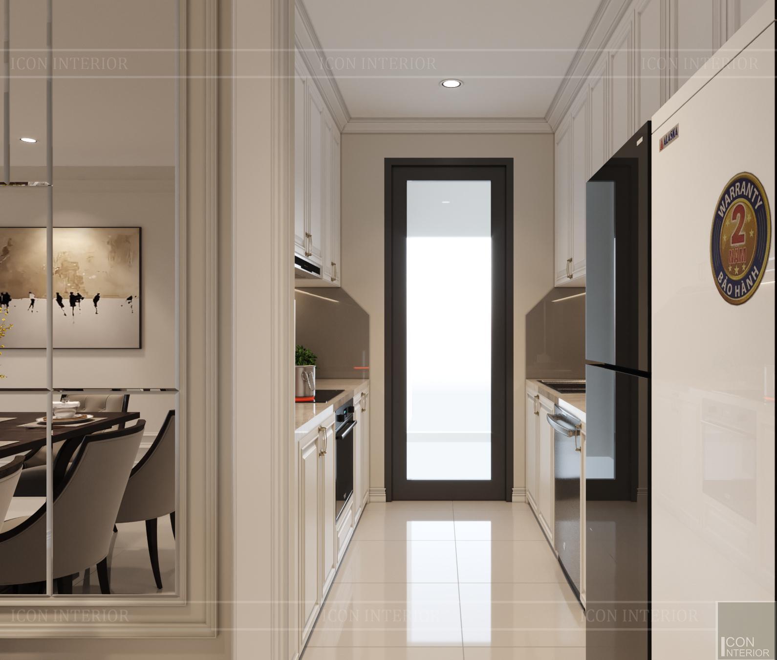 thiết kế nội thất hado centrosa - lối vào bếp