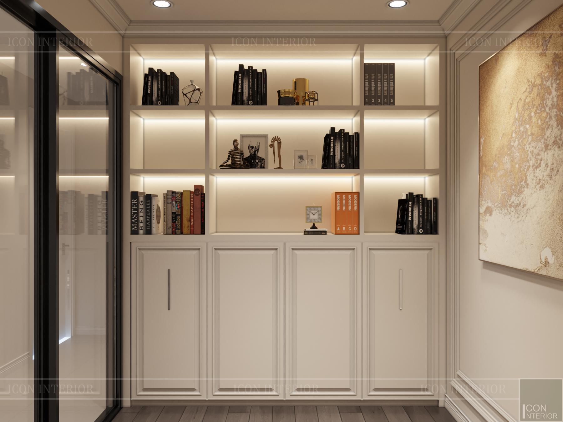 thiết kế nội thất hado centrosa - phòng sách