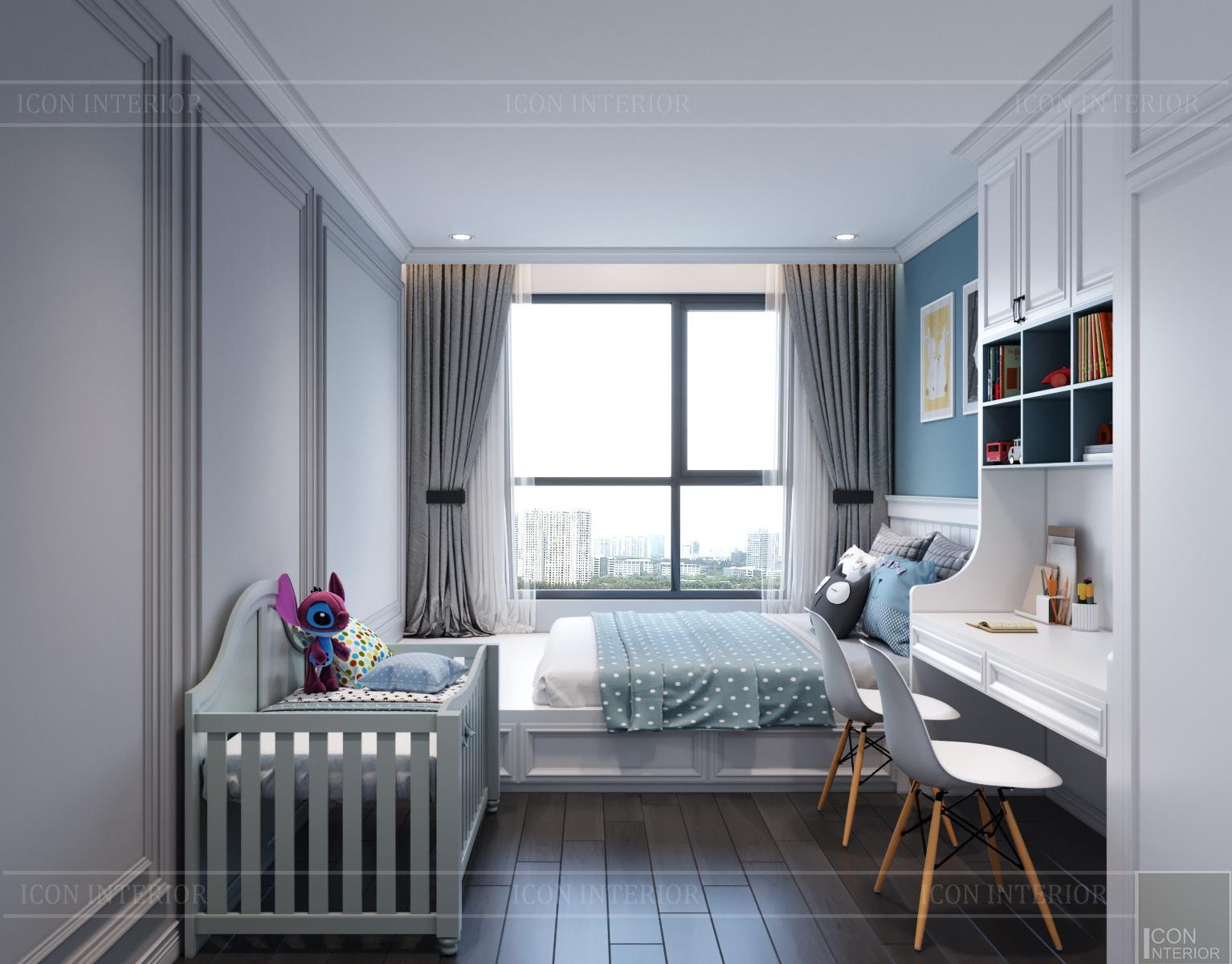 thiết kế căn hộ hà đô centrosa - phòng ngủ trẻ em