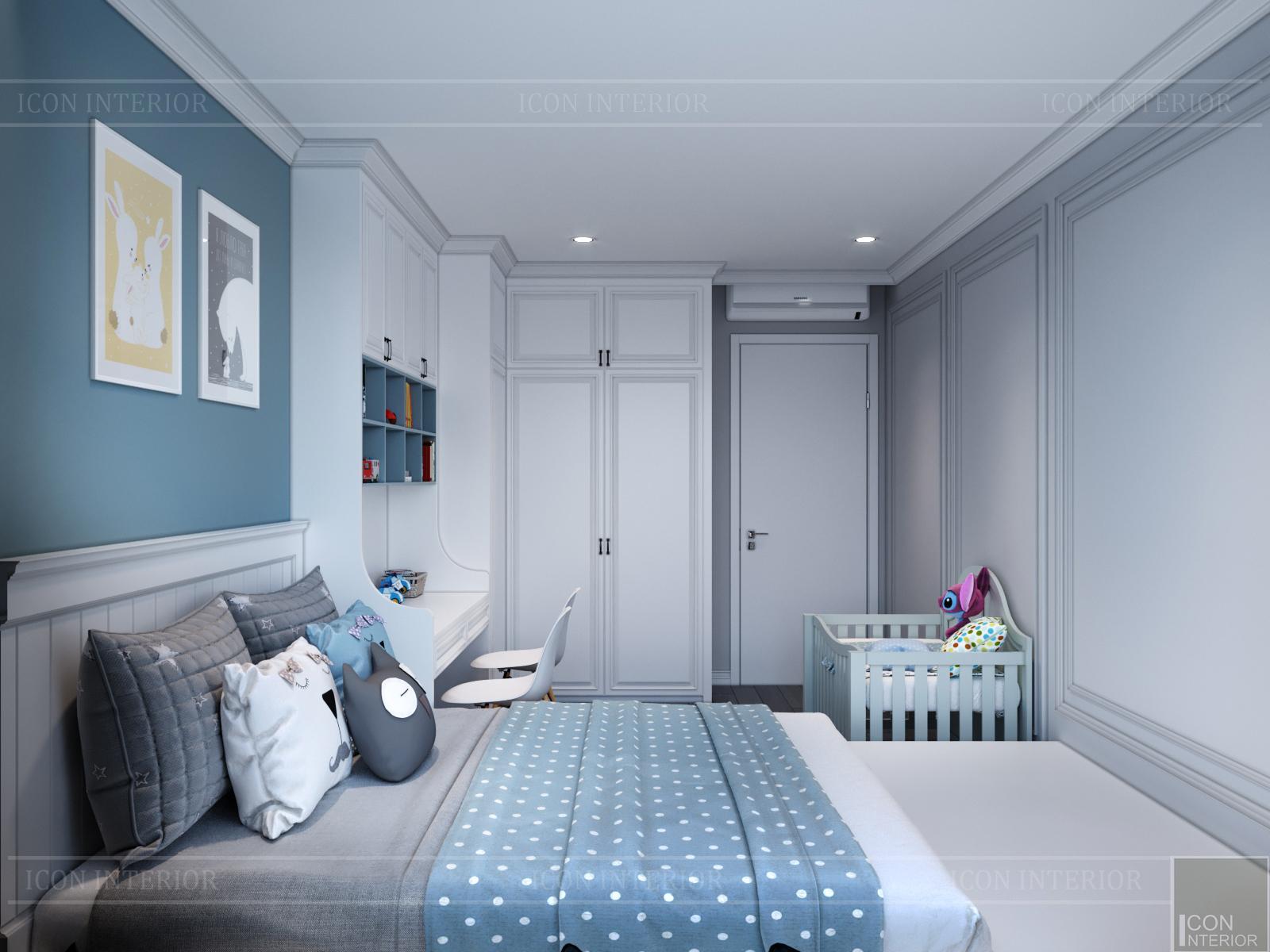 thiết kế nội thất hado centrosa - giường ngủ