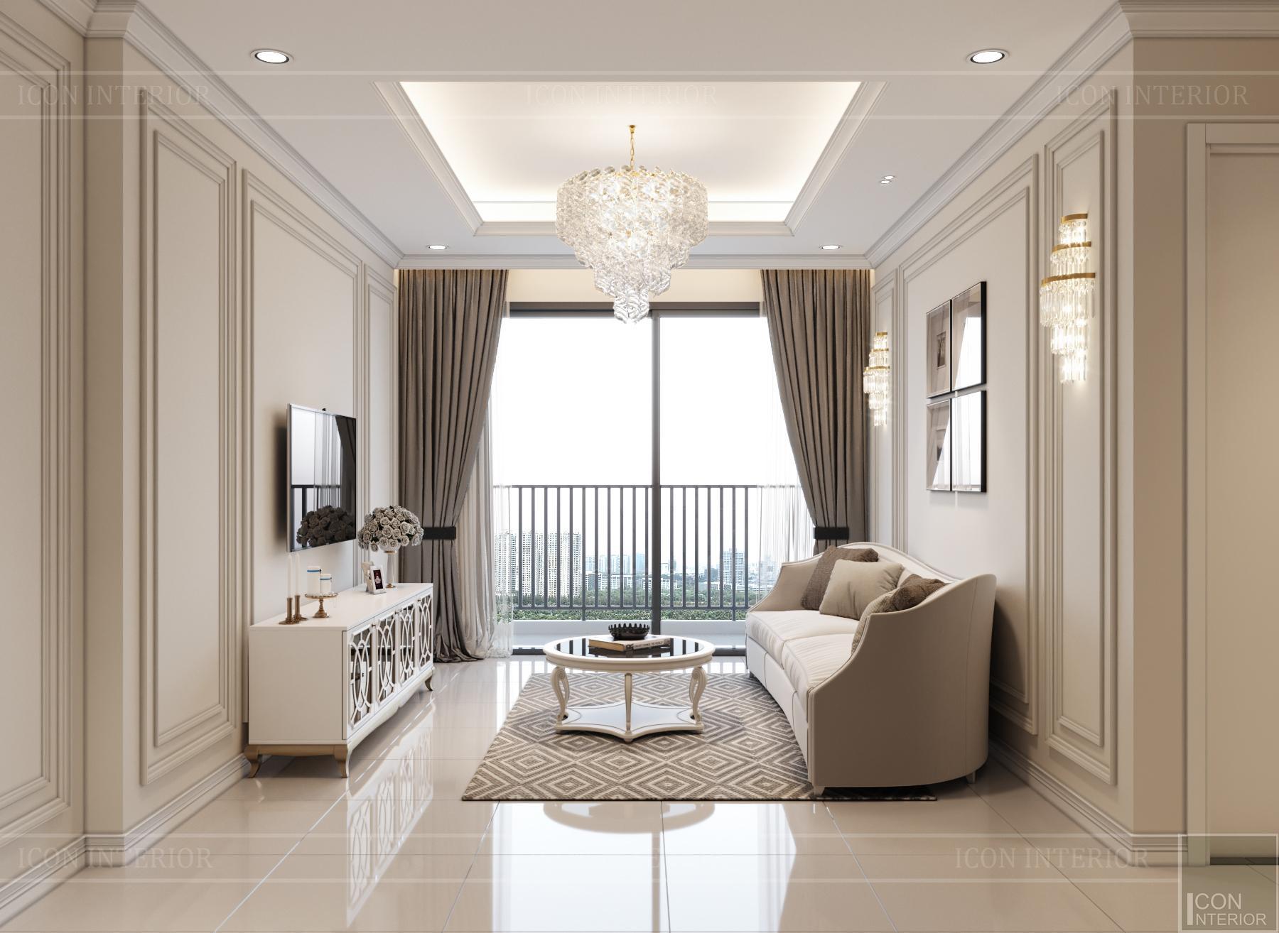 thiết kế nội thất hado centrosa - phòng khách