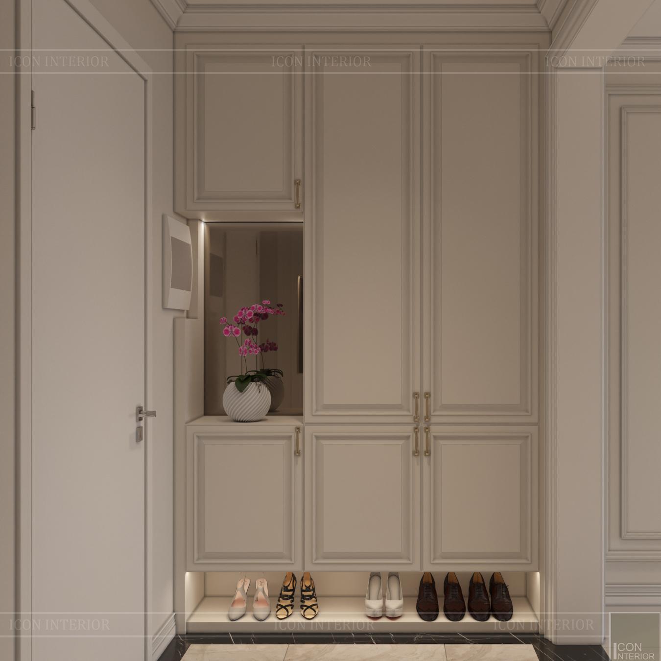 thiết kế nội thất hado centrosa - tủ giày