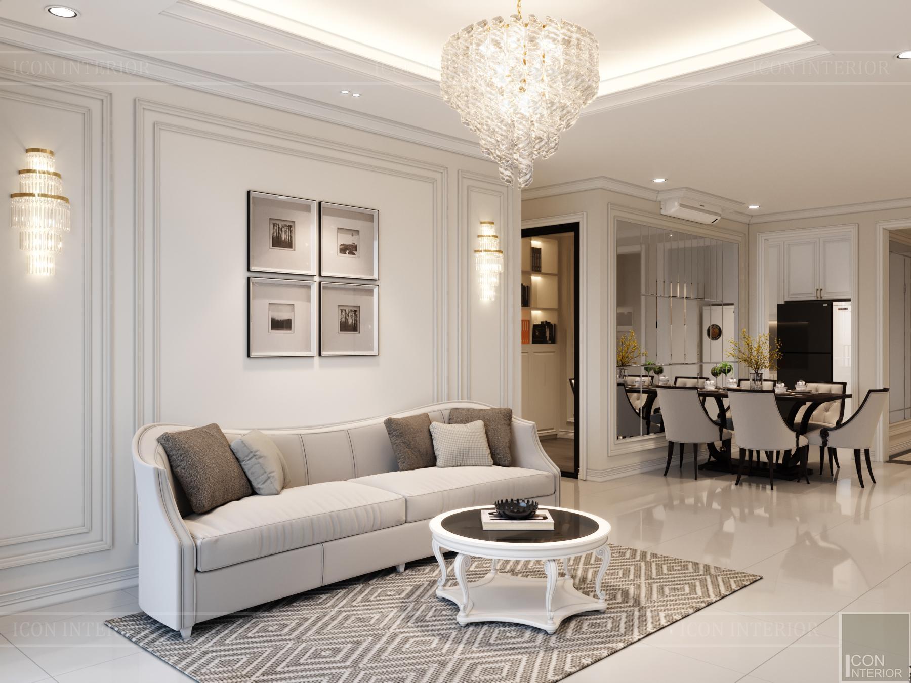 thiết kế nội thất hado centrosa - phòng khách - bếp
