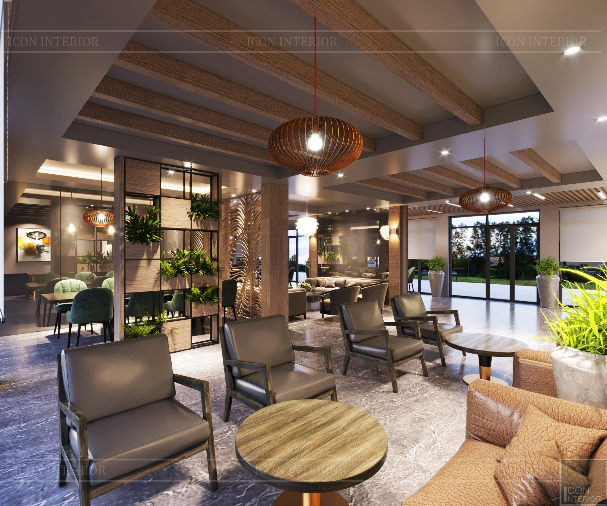 Không gian quán cafe mang phong cách đương đại 13