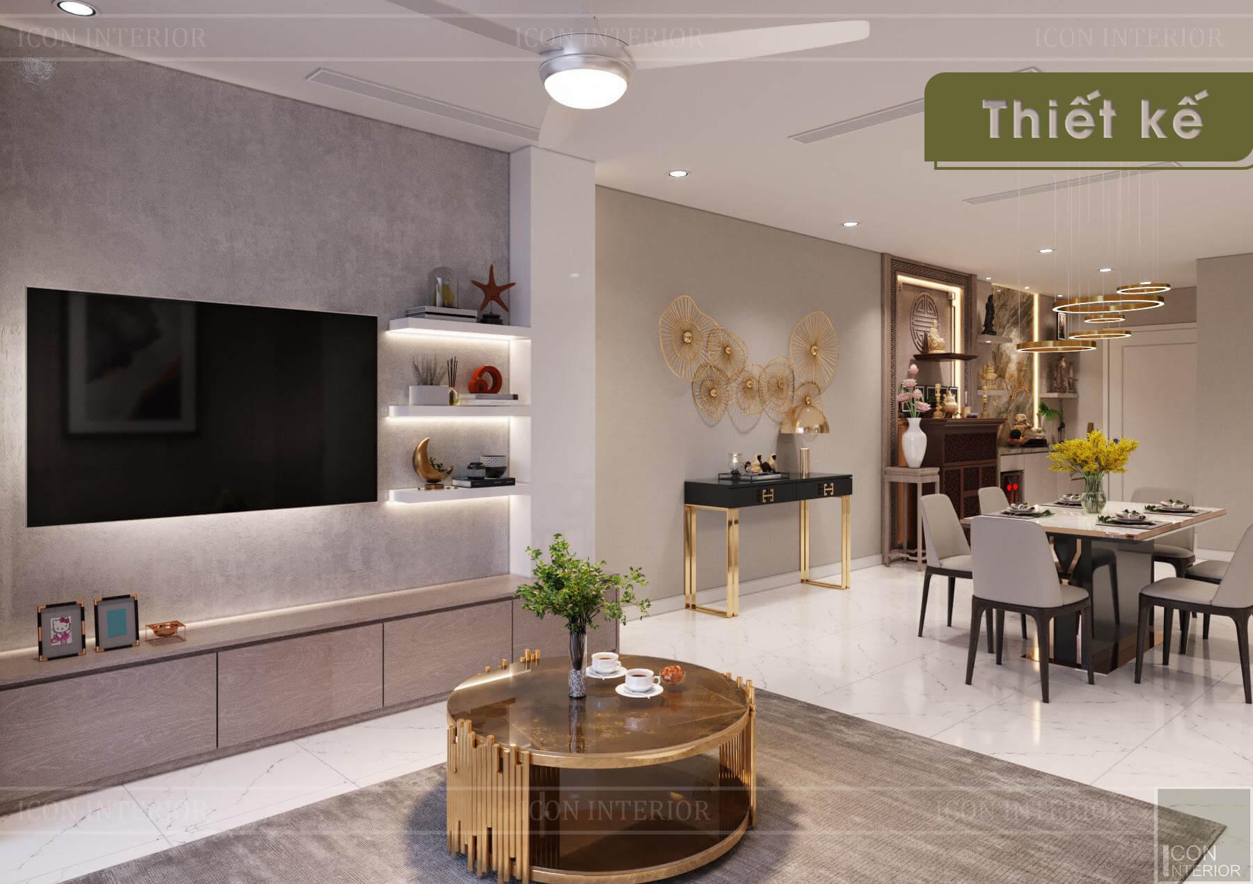 Thiết kế nội thất 3D Landmark 1 - phòng khách