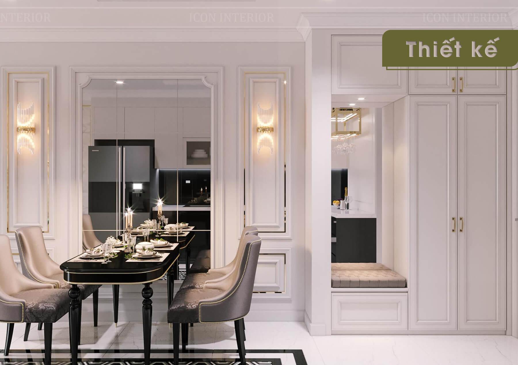 Thiết kế nội thất 3D Landmark 2 - bàn ghế ăn