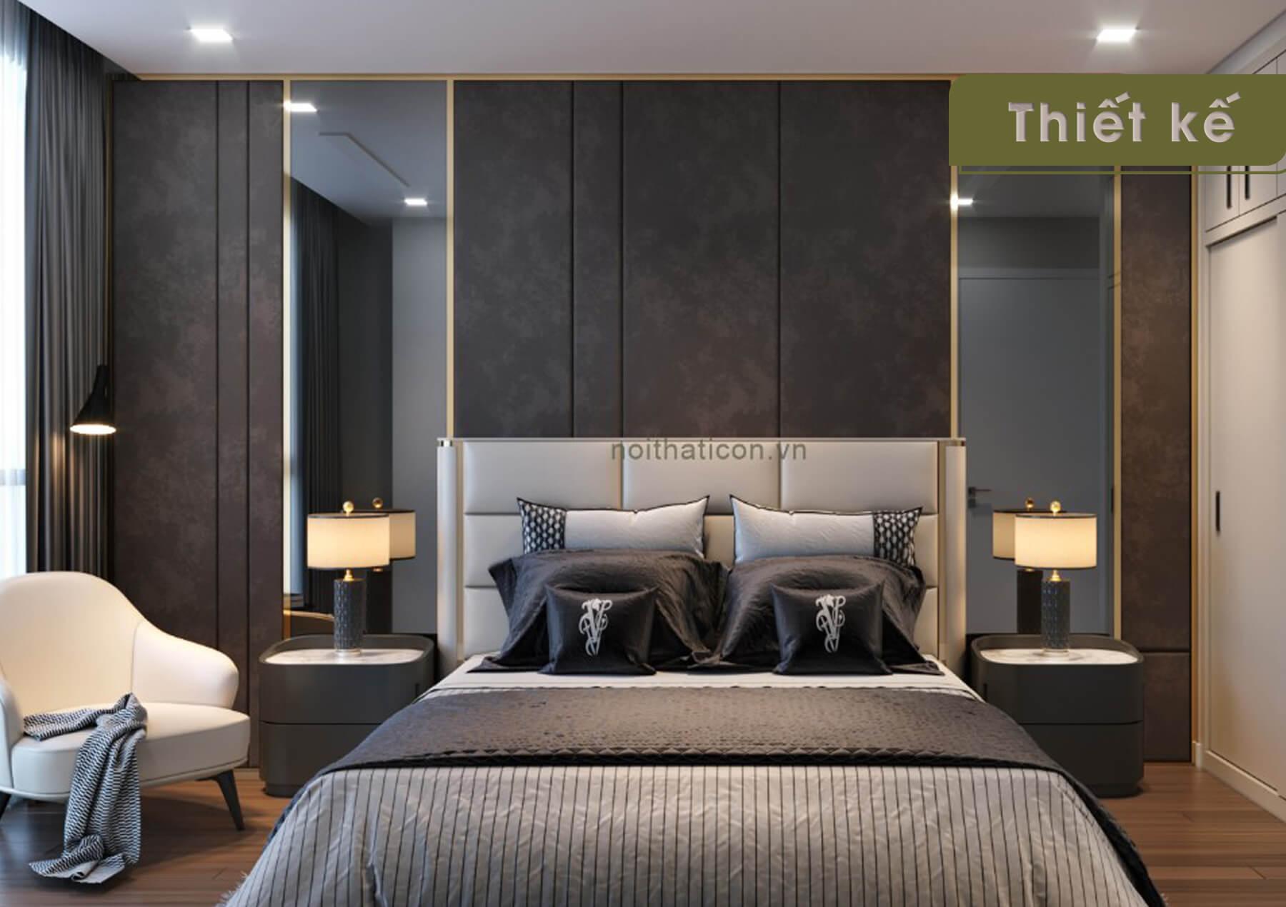 Thiết kế nội thất 3D Landmark 4 - phòng ngủ
