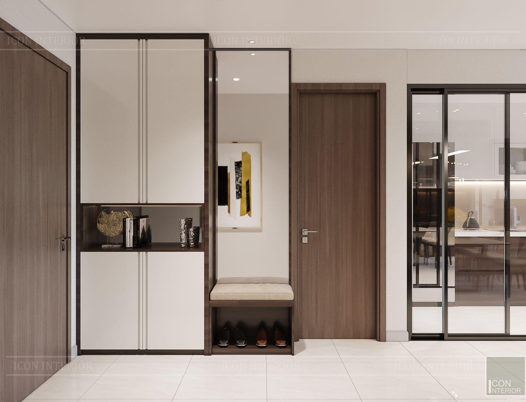 Thiết kế căn hộ toàn Iris 1 Hado Centrosa - lối vào