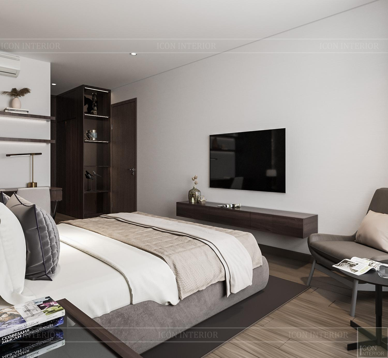 Thiết kế nội thất căn hộ Hado Centrosa - phòng ngủ hiện đại