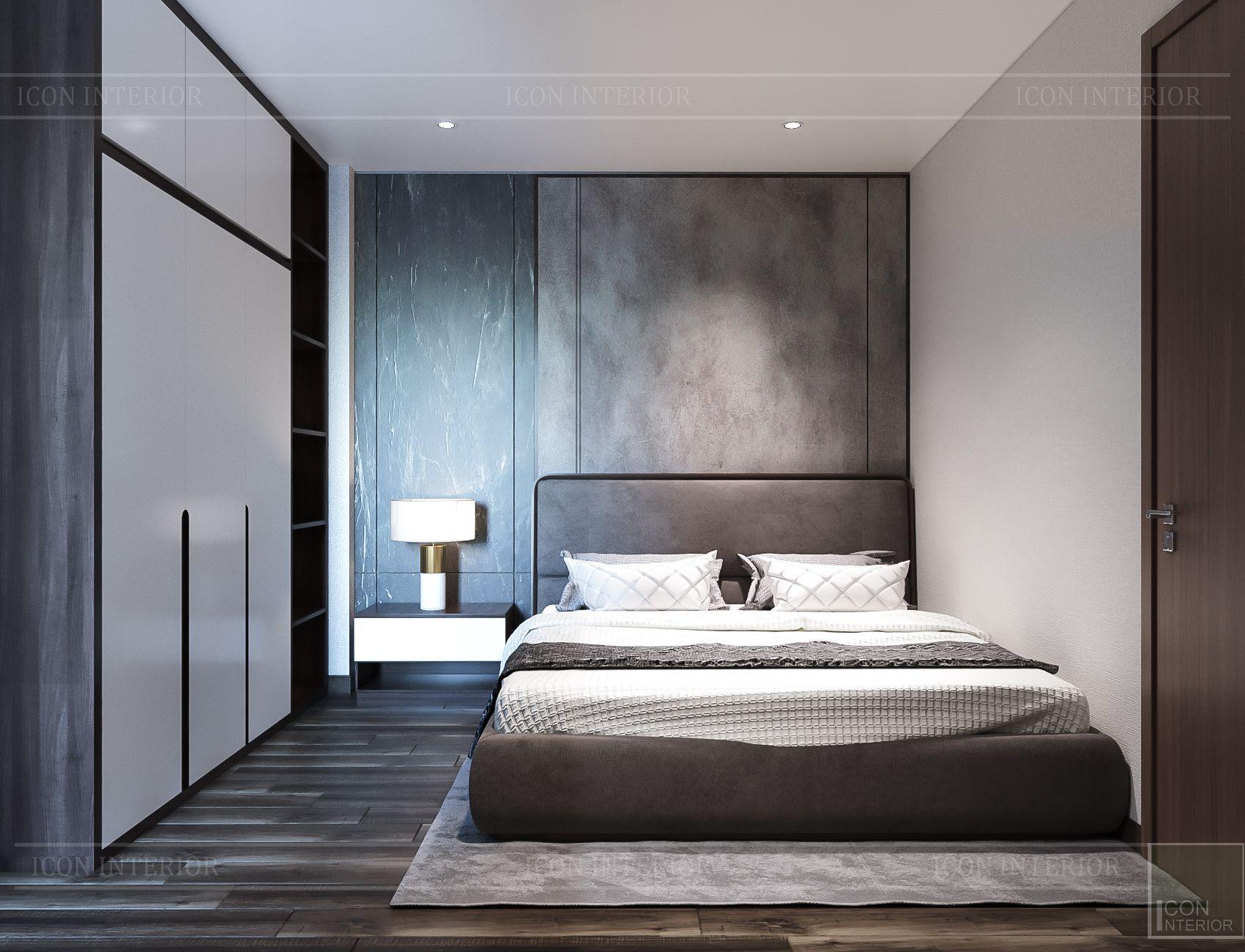 Thiết kế nội thất căn hộ Hado Centrosa - phòng ngủ nhỏ