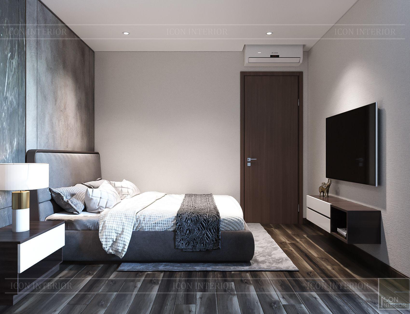 Thiết kế nội thất căn hộ Hado Centrosa - phòng ngủ 2