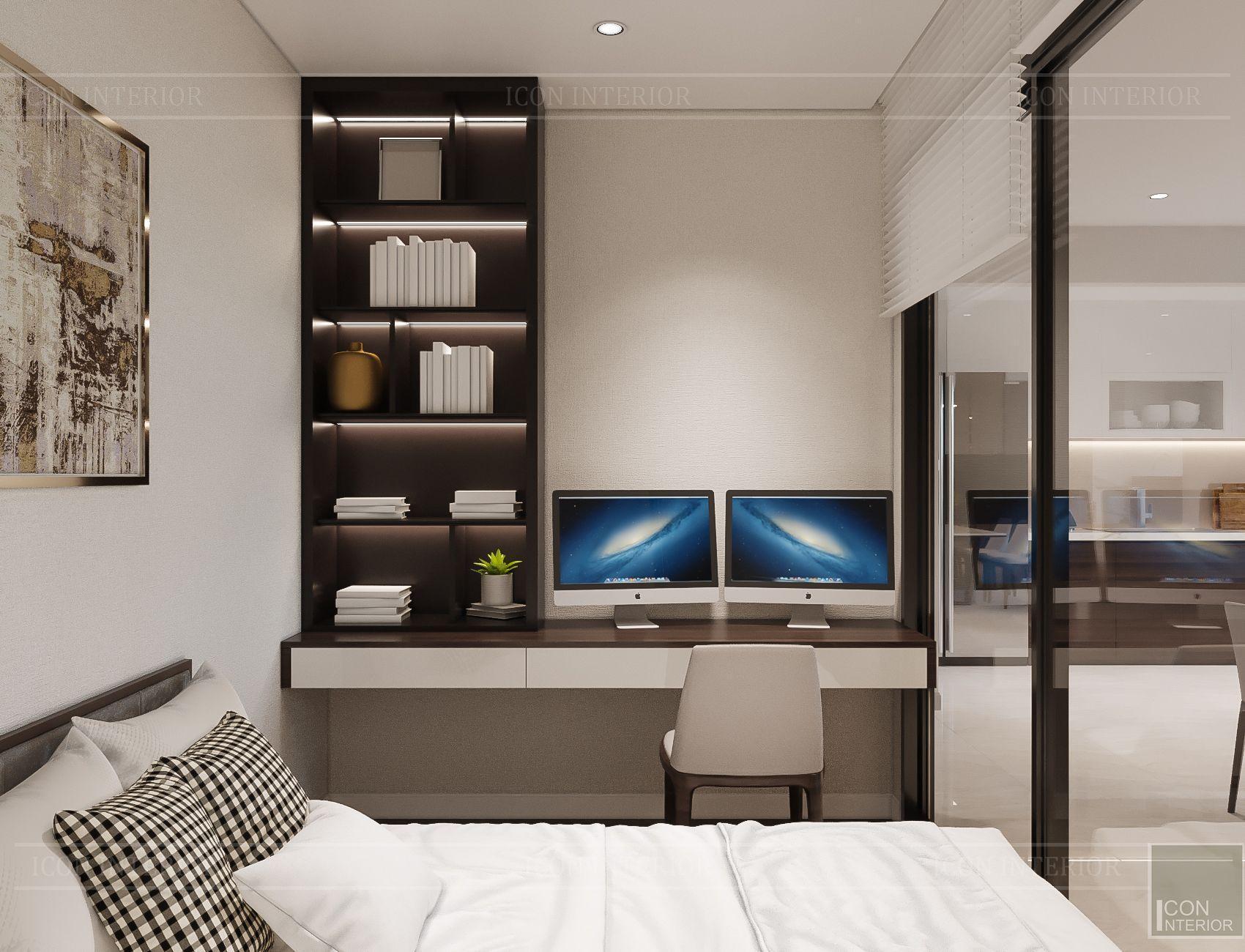 Thiết kế nội thất căn hộ Hado Centrosa - phòng đa năng