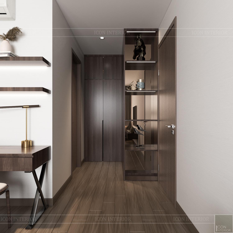 Thiết kế nội thất căn hộ Hado Centrosa - lối vào phòng ngủ