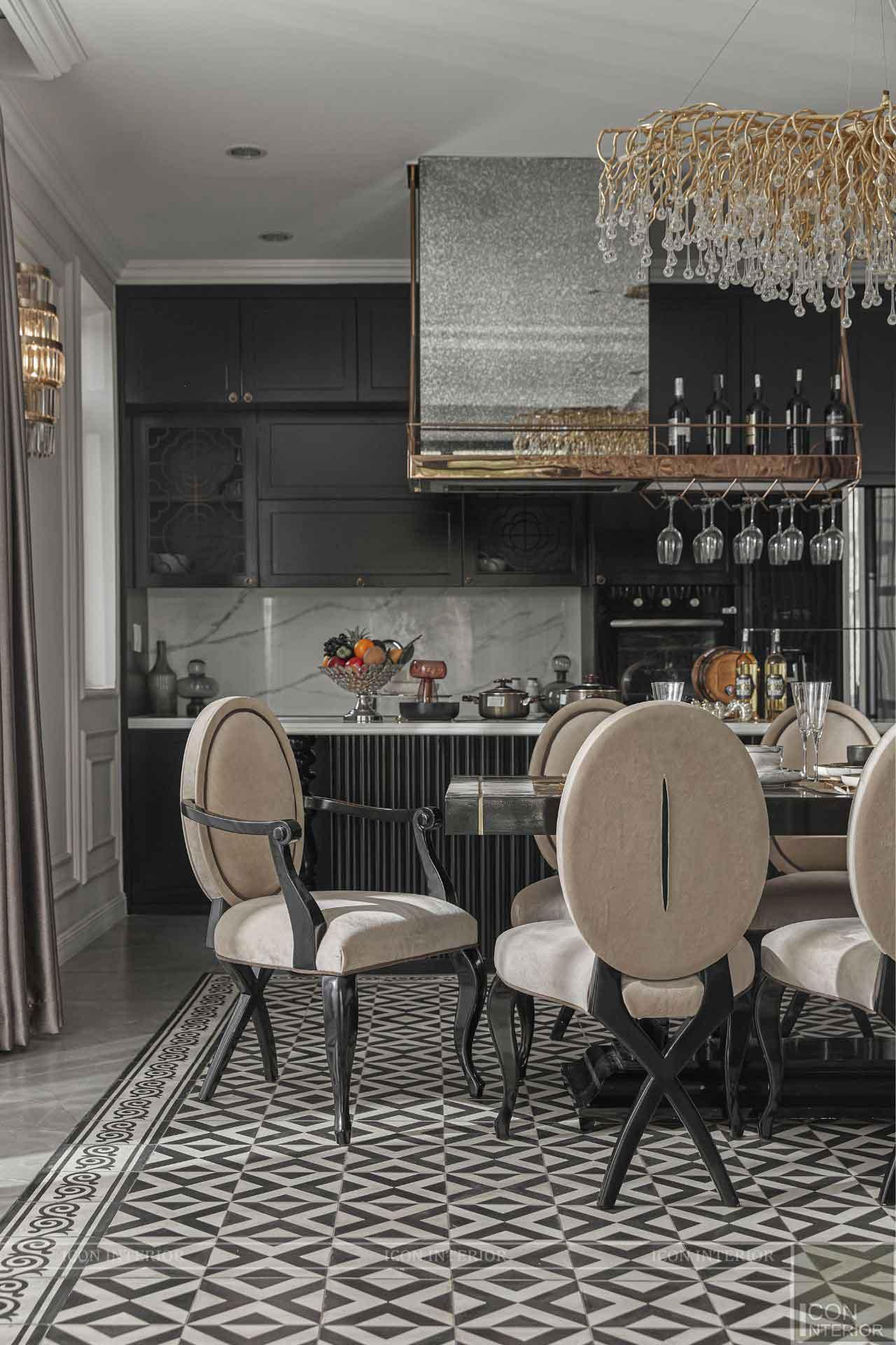phòng bếp phong cách Indochine