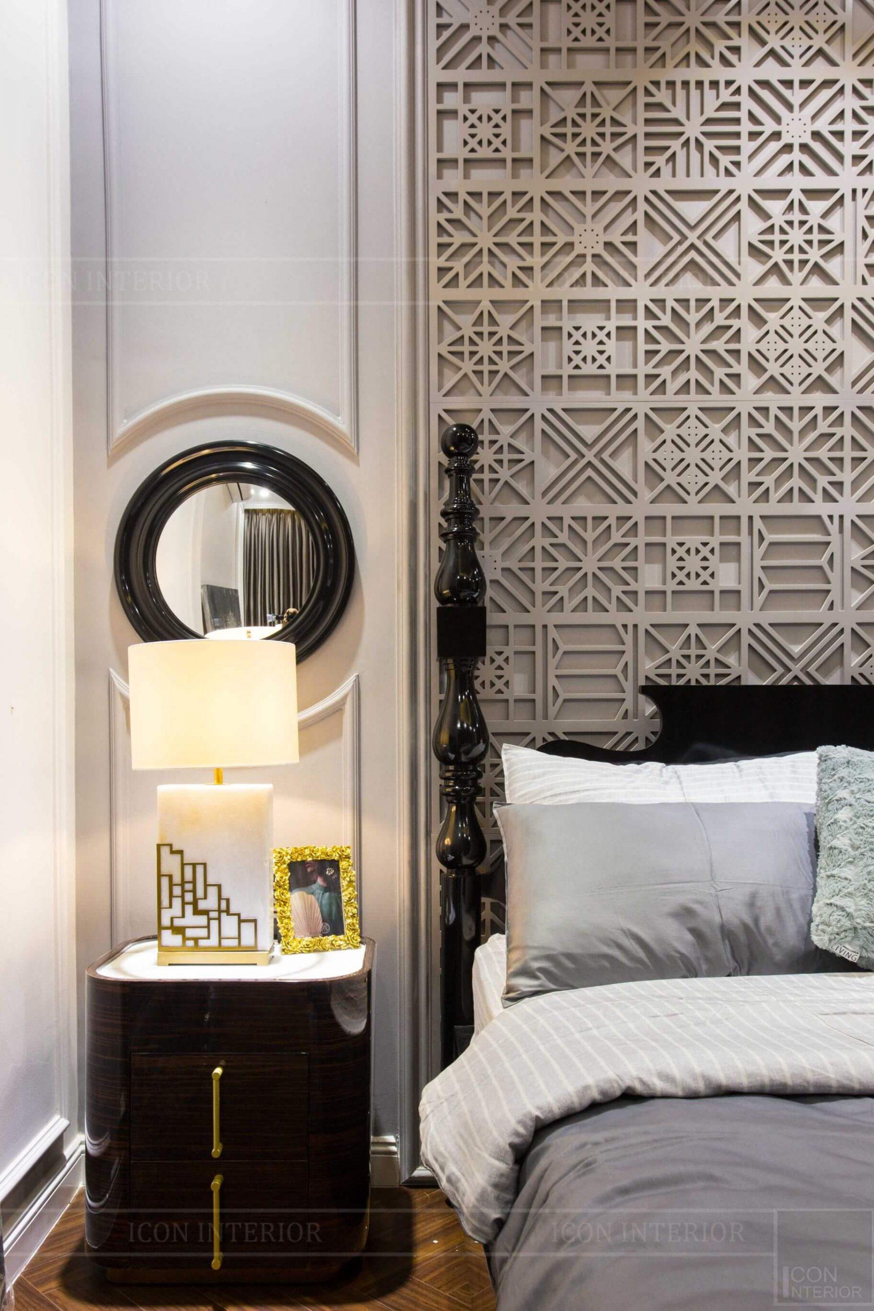 Nội thất nhà mẫu West Lakes Golf & Villas - tab đầu giường
