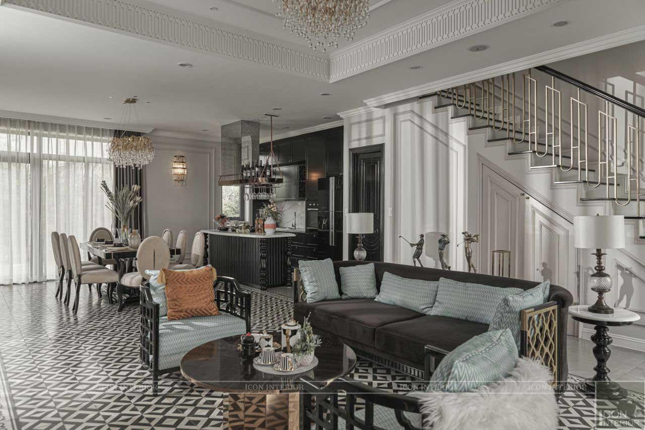 nội thất phòng khách West Lakes Golf & Villas