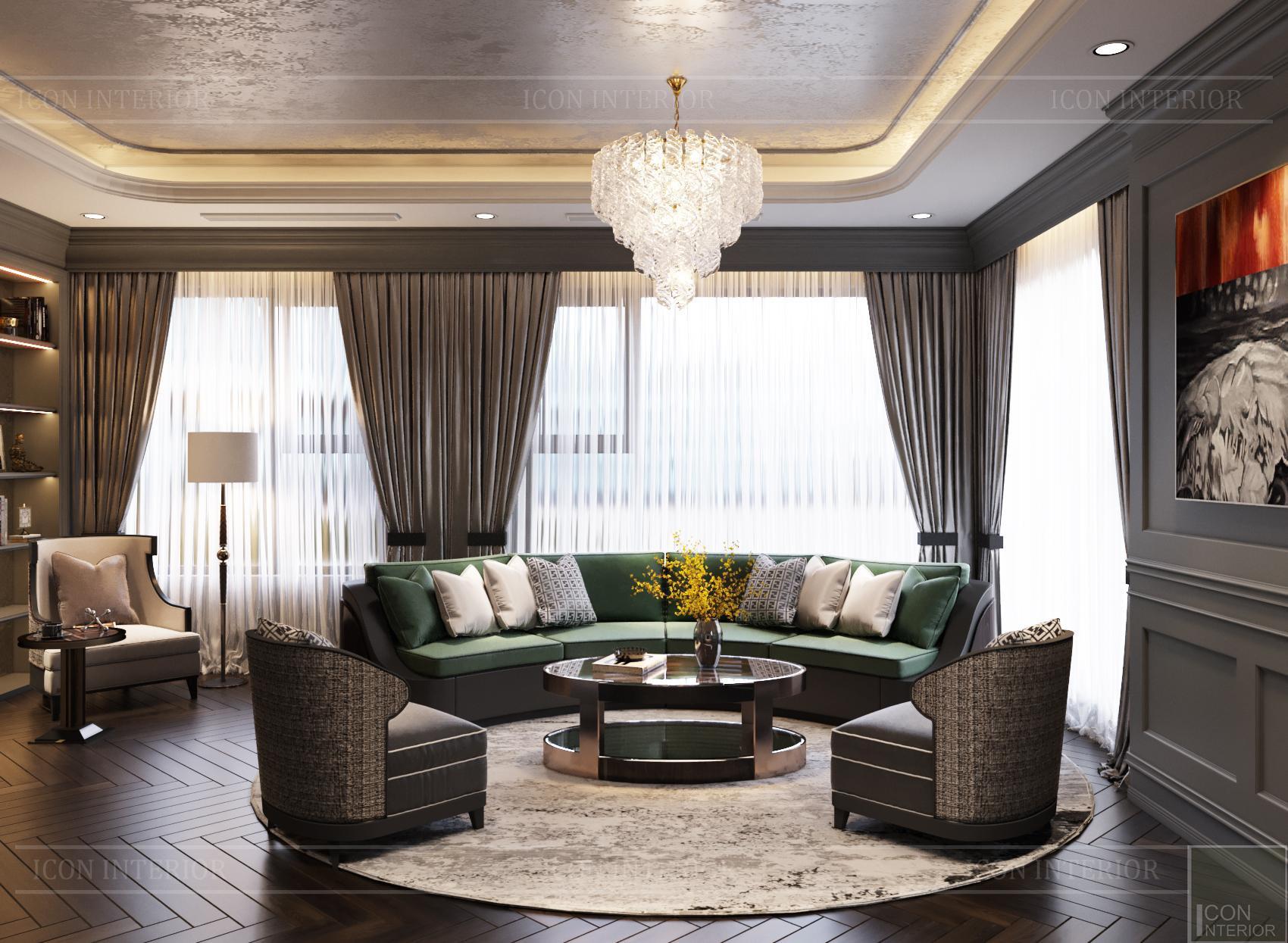 Thiết kế căn hộ Kingdom 101 - phòng khách