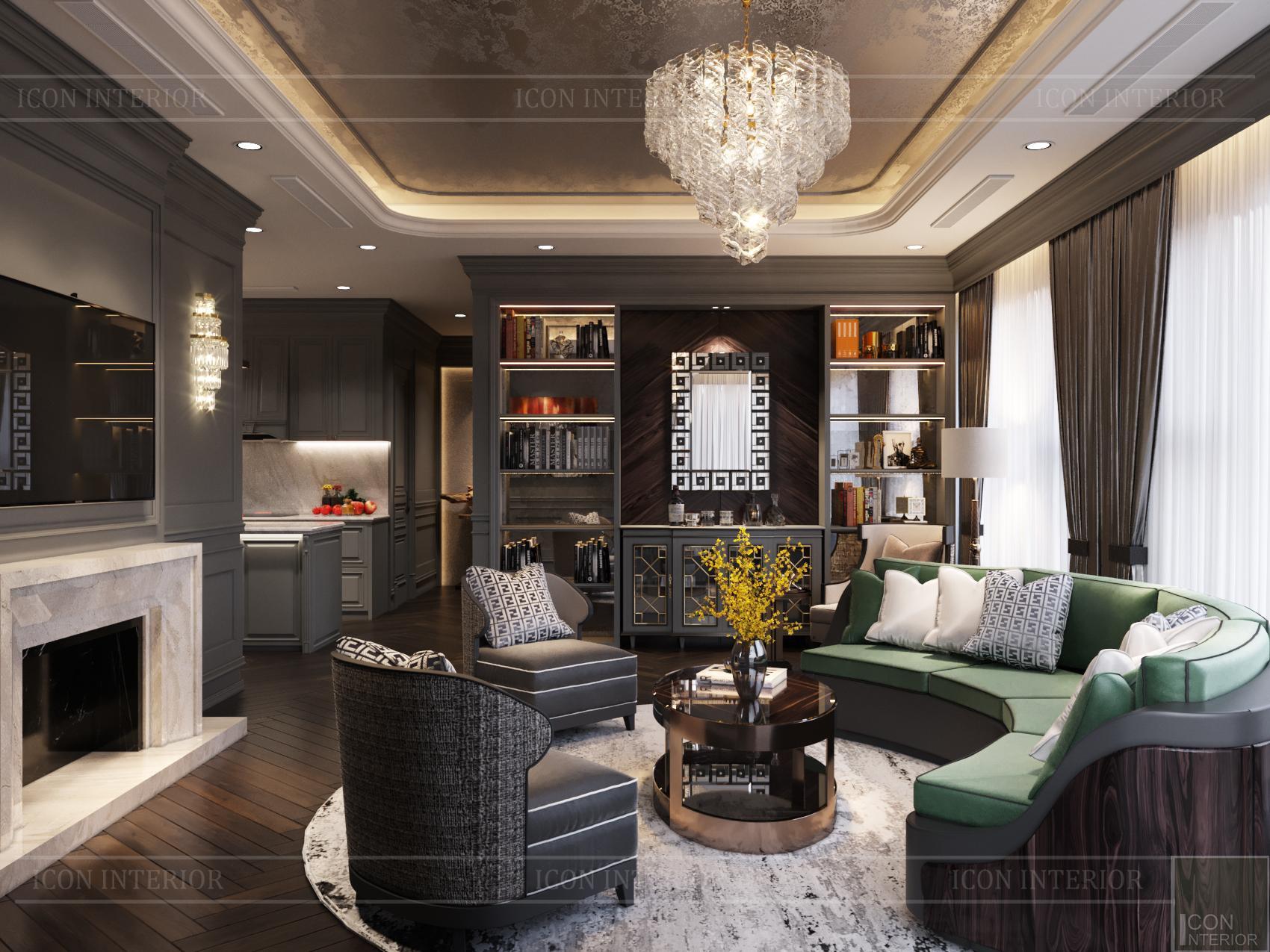thiết kế nội thất chung cư 100m2 đẹp