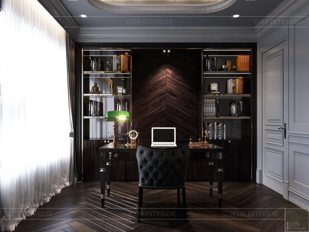 Thiết kế căn hộ 100m2 Kingdom 101 phòng làm việc