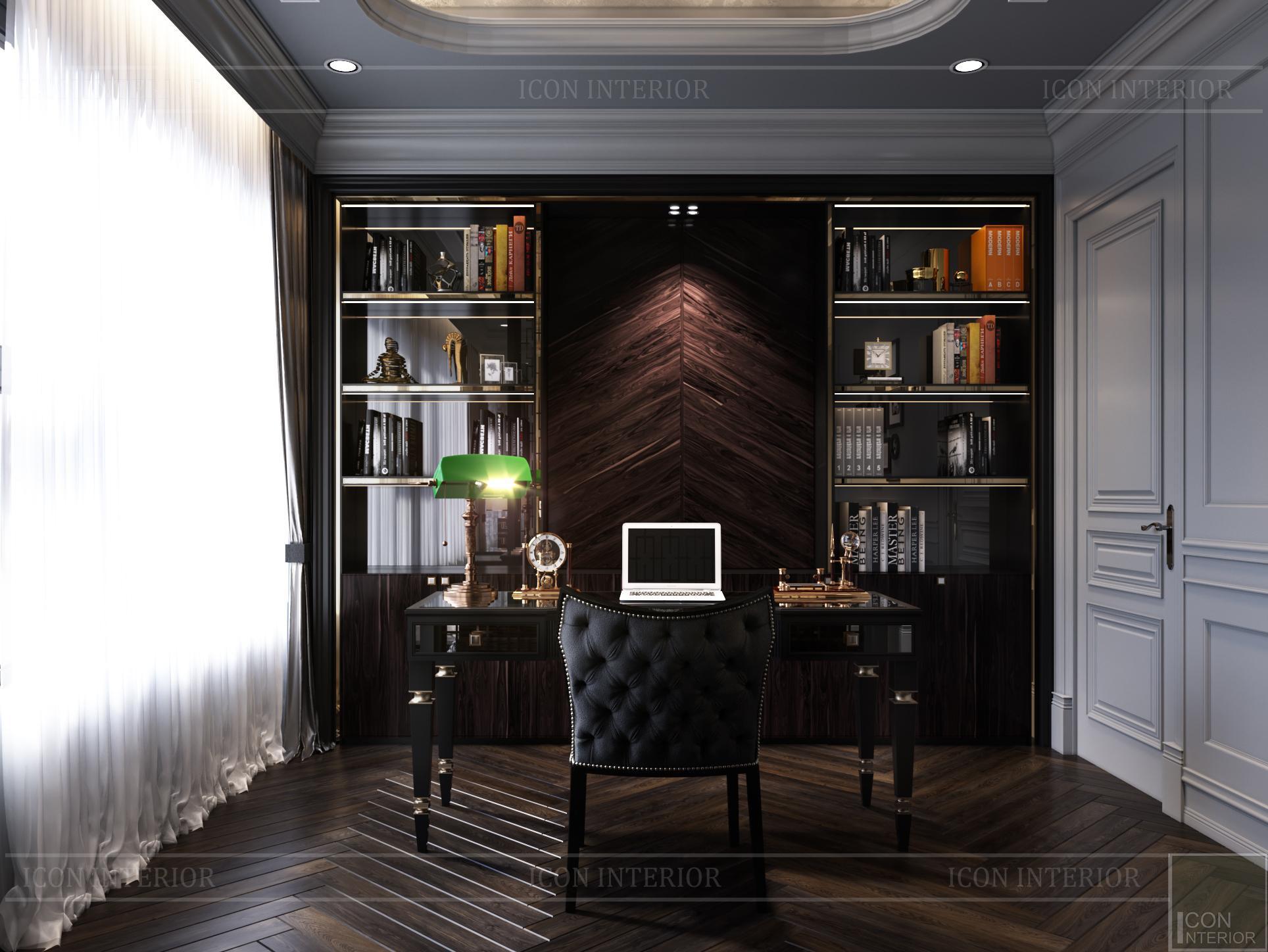 Thiết kế căn hộ Kingdom 101 - phòng làm việc