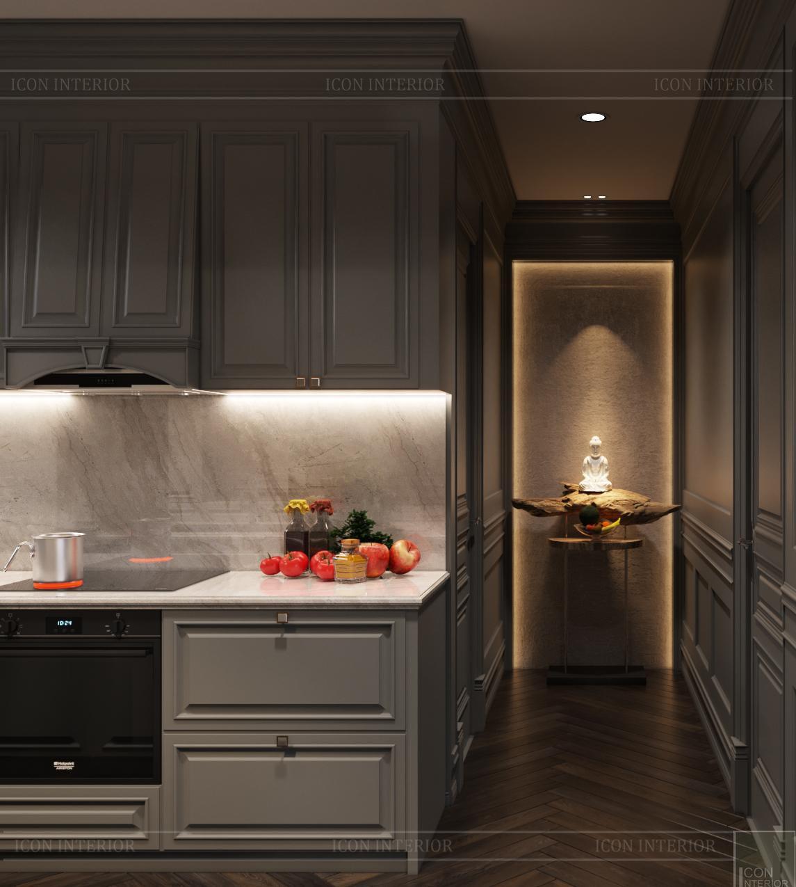 Thiết kế căn hộ Kingdom 101 - phòng bếp