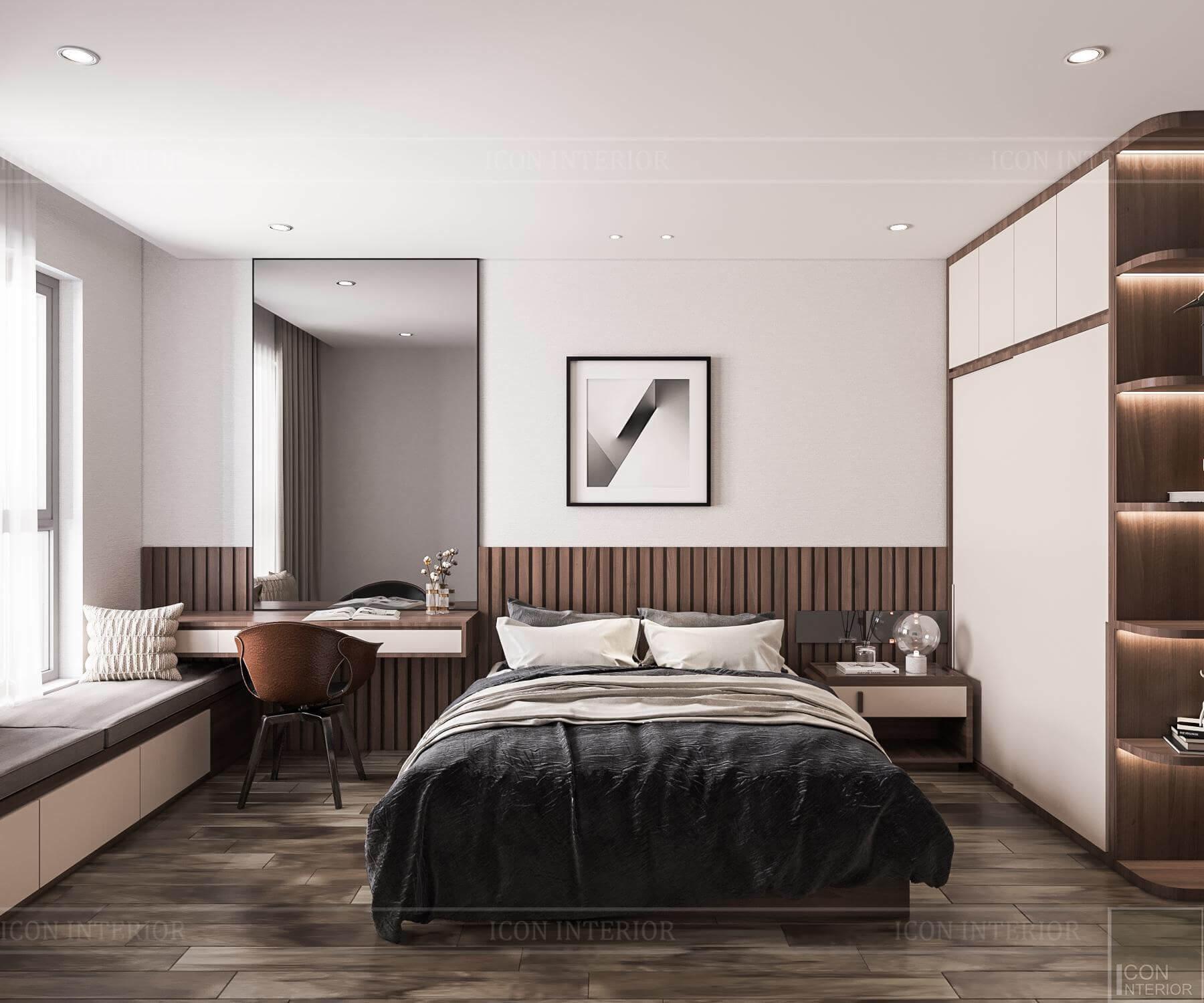 Nội thất căn hộ Hado Centrosa - phòng ngủ master