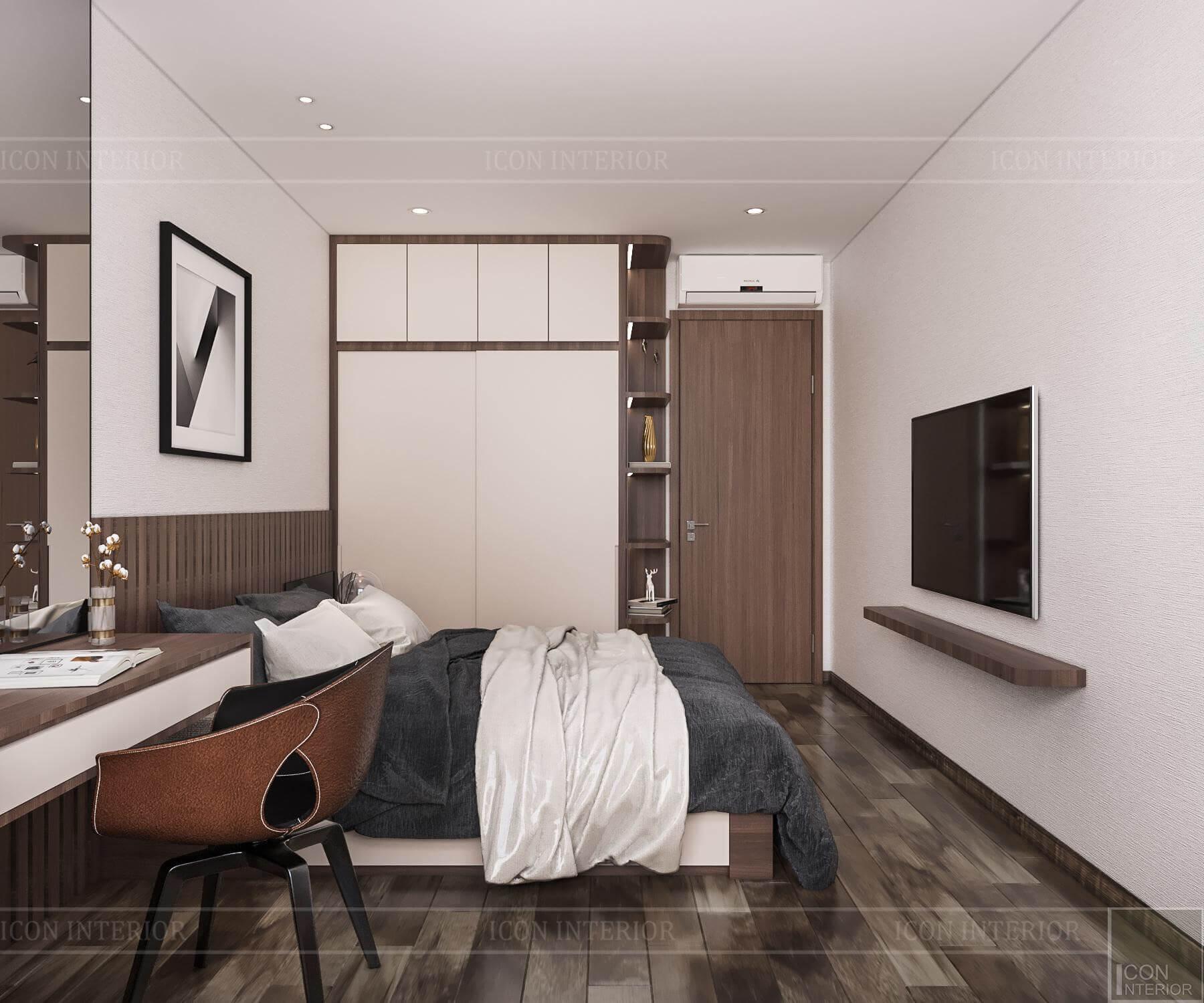Nội thất căn hộ Hado Centrosa - phòng ngủ master 1