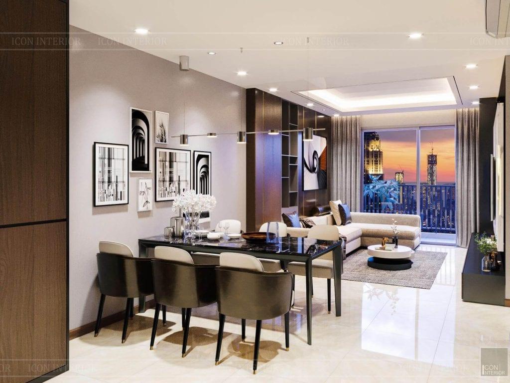 Nội thất căn hộ Hado Centrosa - bàn ghế ăn