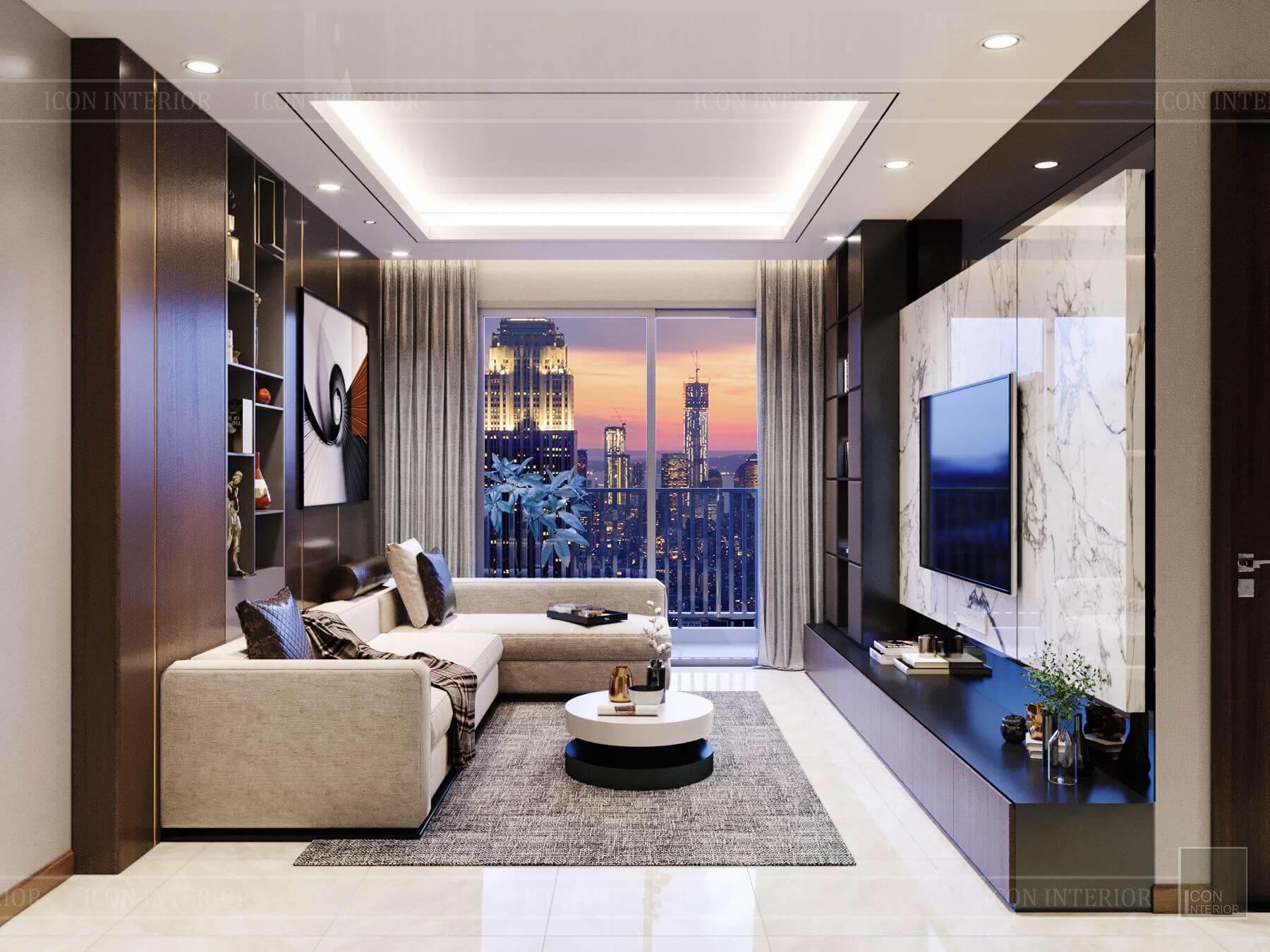 Nội thất căn hộ Hado Centrosa - sofa phòng khách