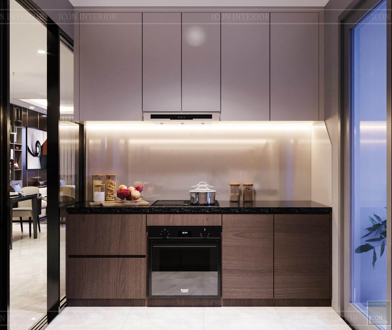 Nội thất căn hộ Hado Centrosa - tủ bếp