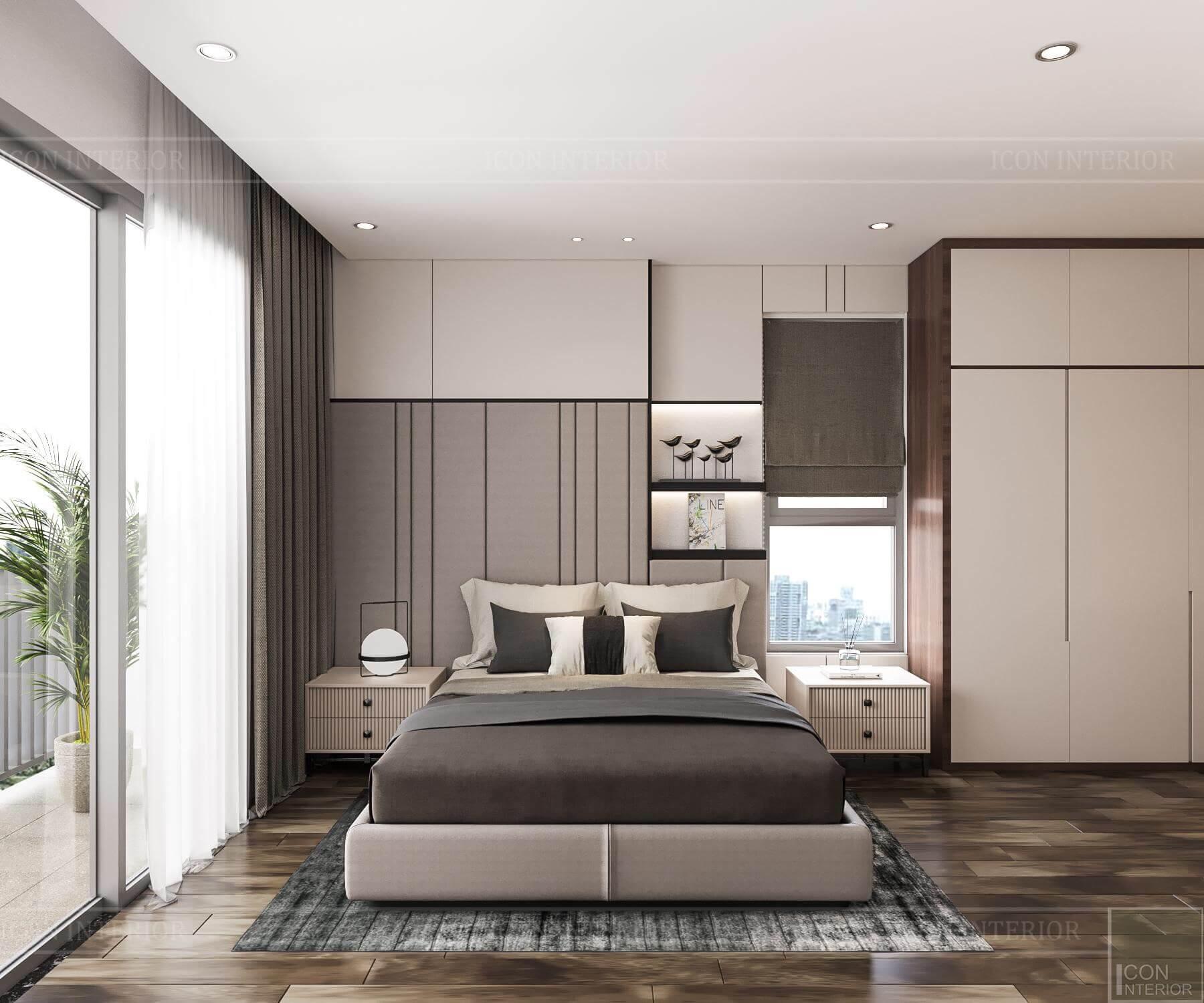 Nội thất căn hộ Hado Centrosa - phòng ngủ 2