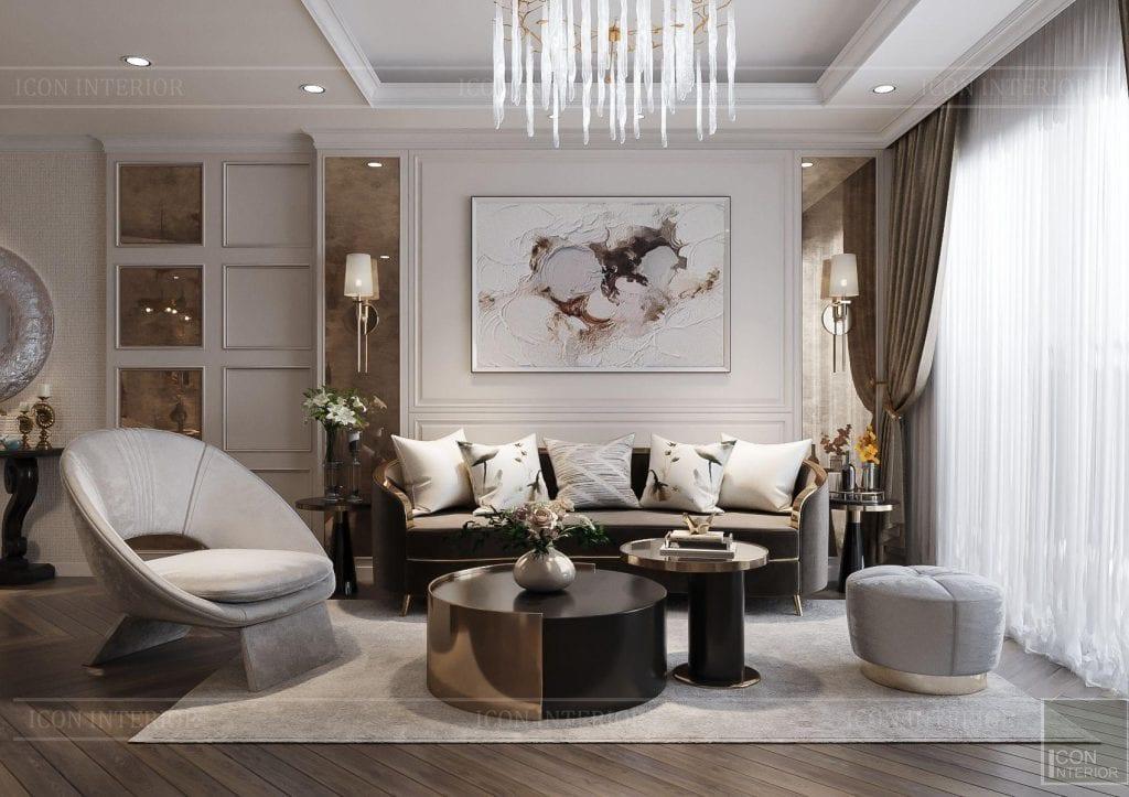 Nội thất căn hộ Hà Đô Centrosa - phòng khách